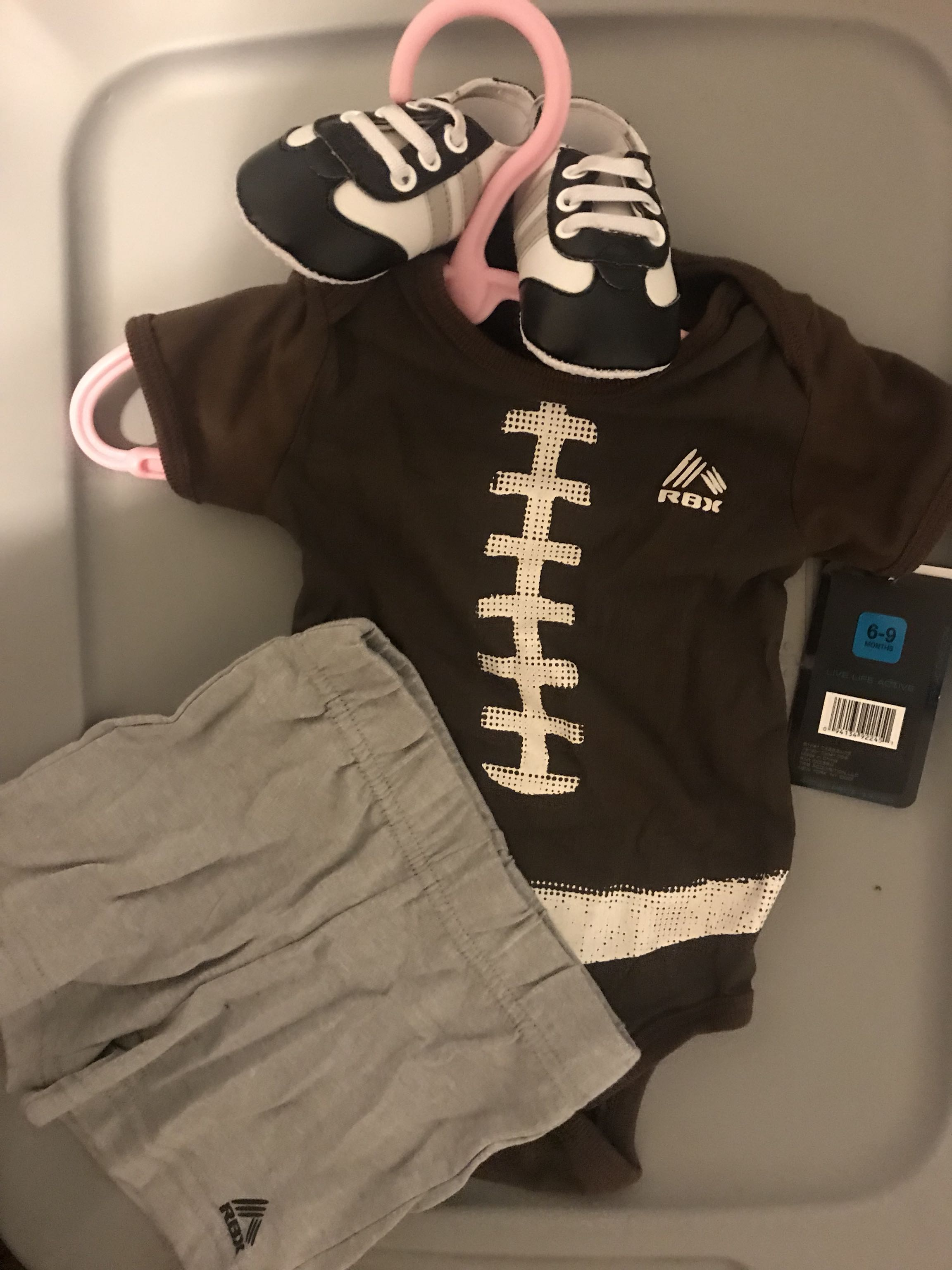 Football outfit with shoes
