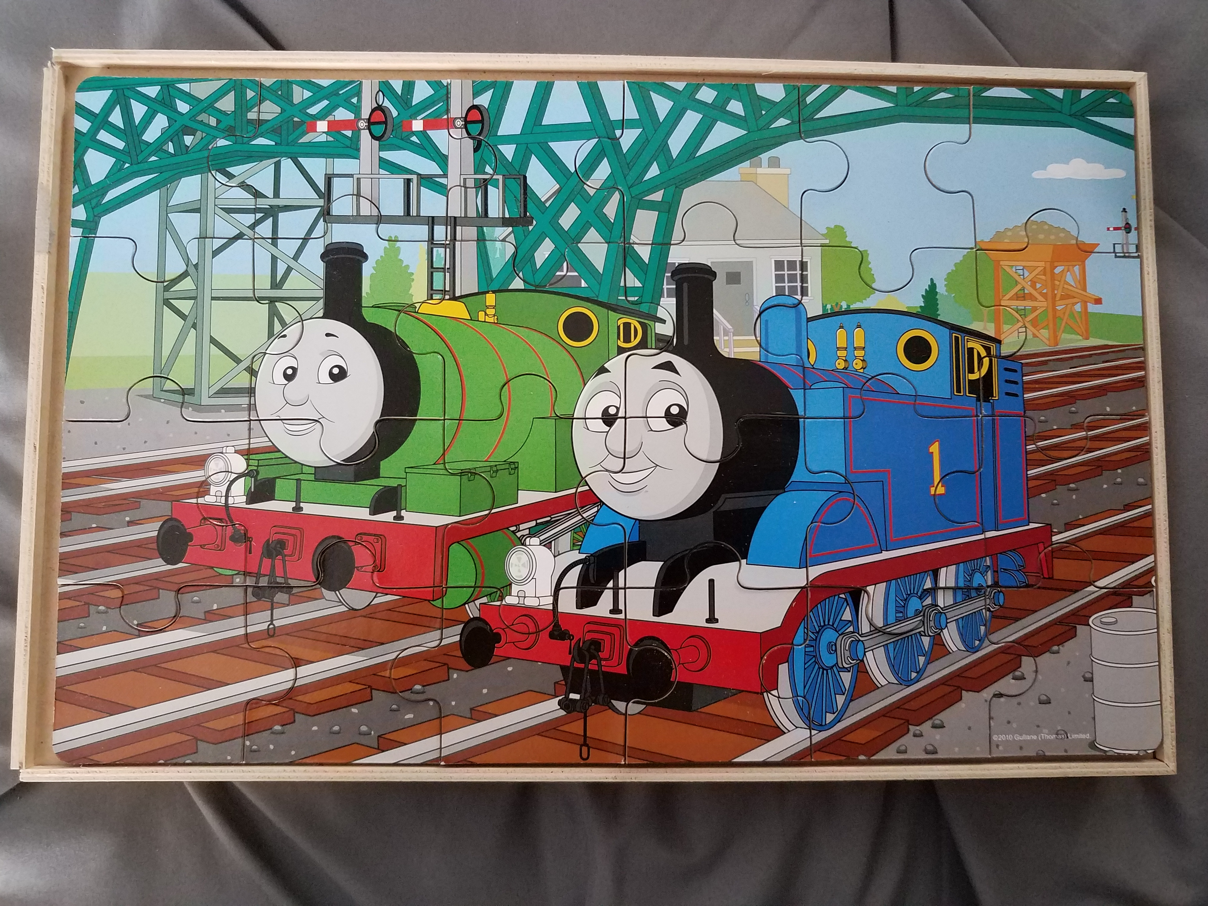 Wooden Thomas the Train puzzle