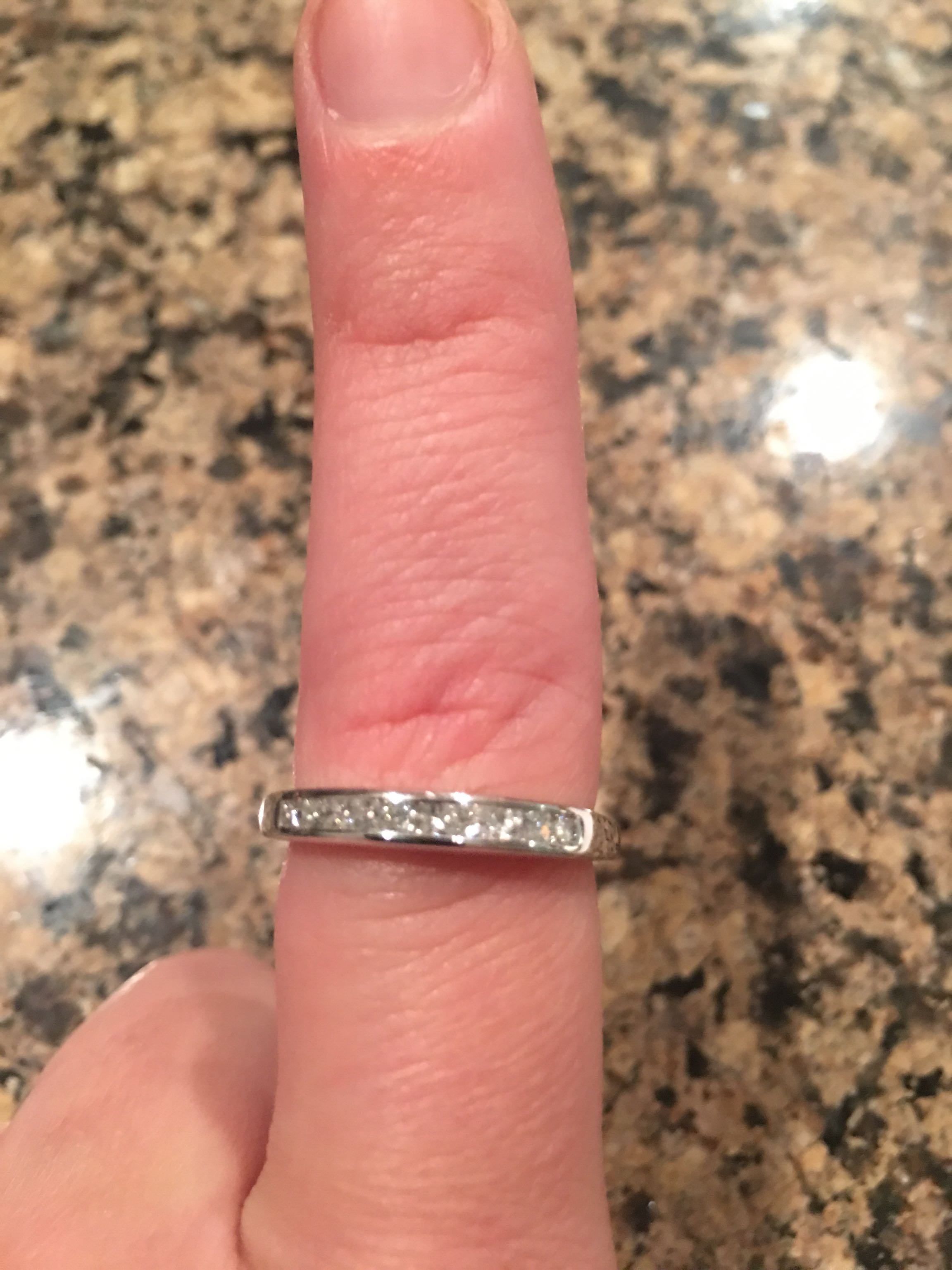 Wedding band or right hand diamond ring