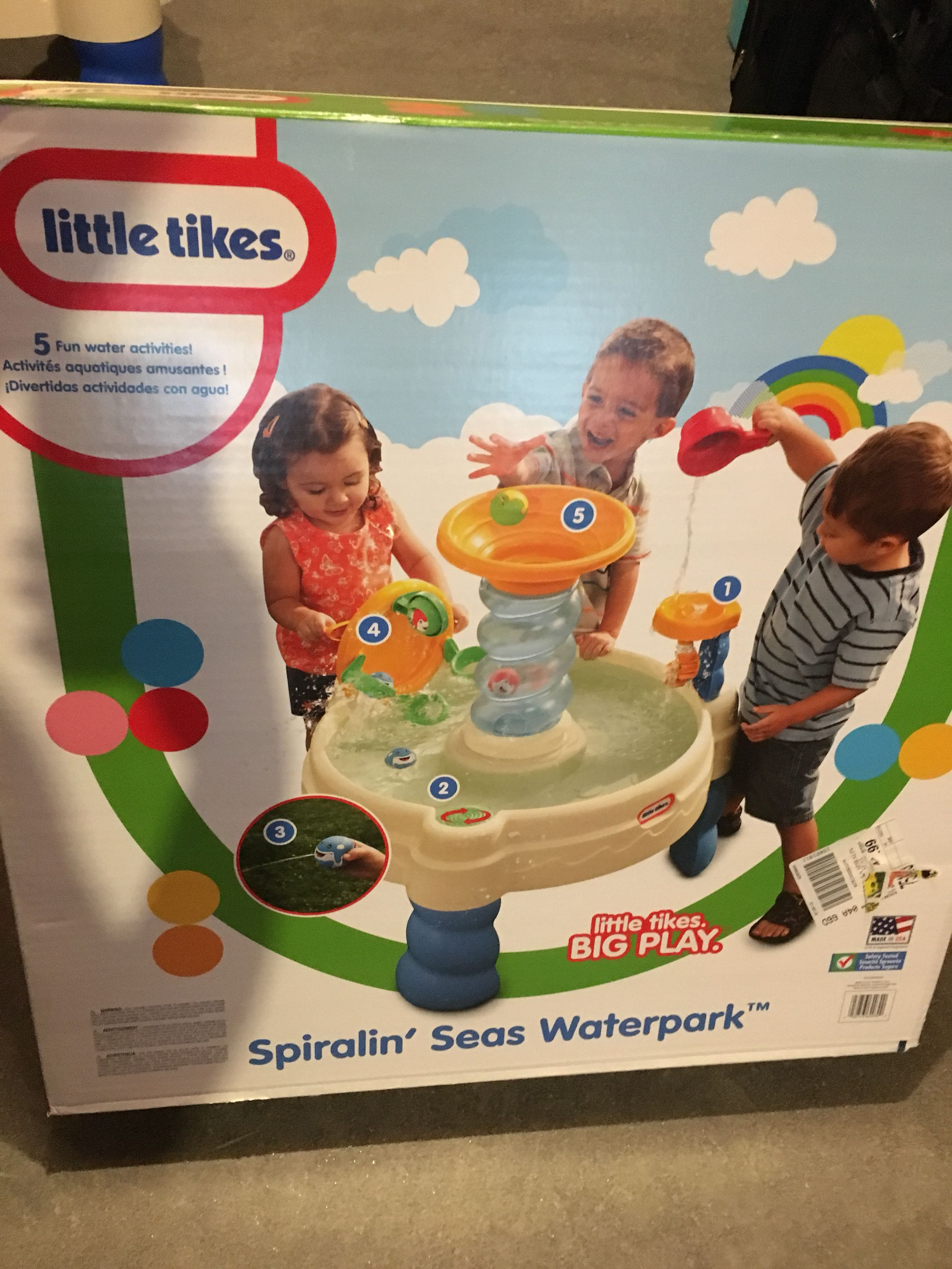 Little Tikes Spiralin' Seas Waterpark Water Table. Comes in Original Box with Manual. Like New!!