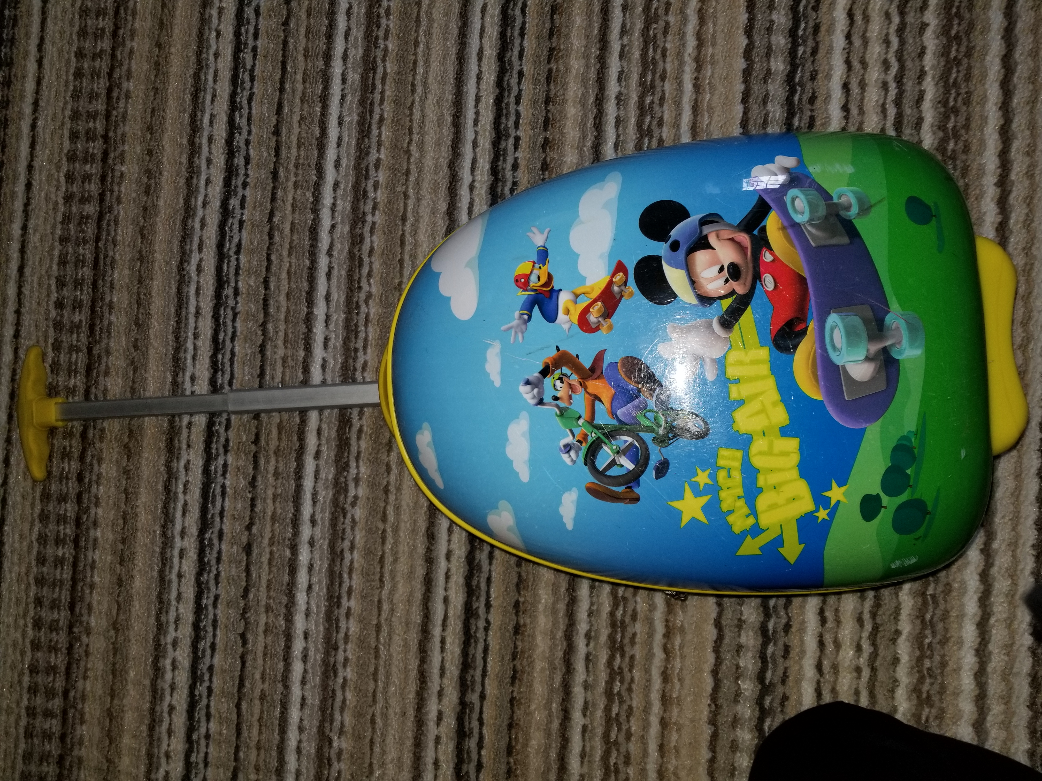 Mickey mouse hard shell luggage