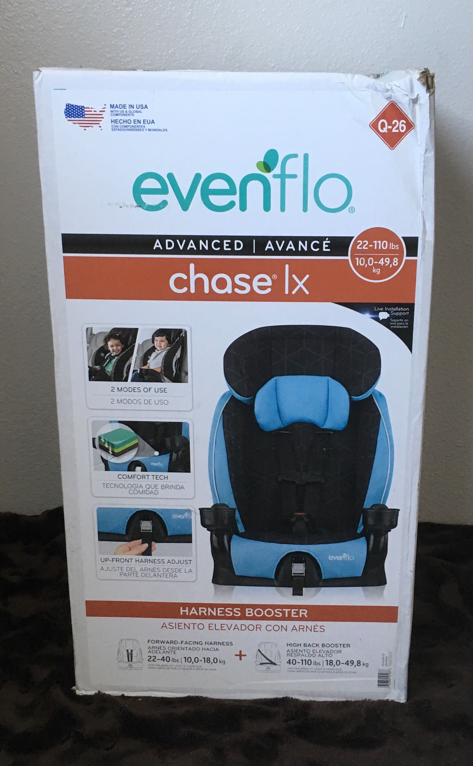 New EvenFlo Chase LX Booster Seat