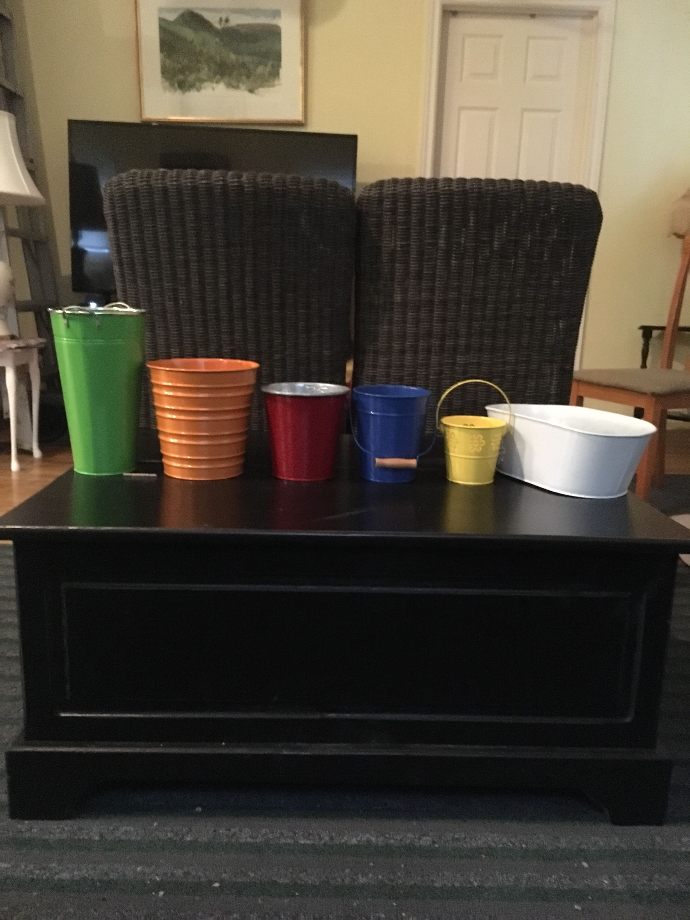 Decorative metal pails/buckets