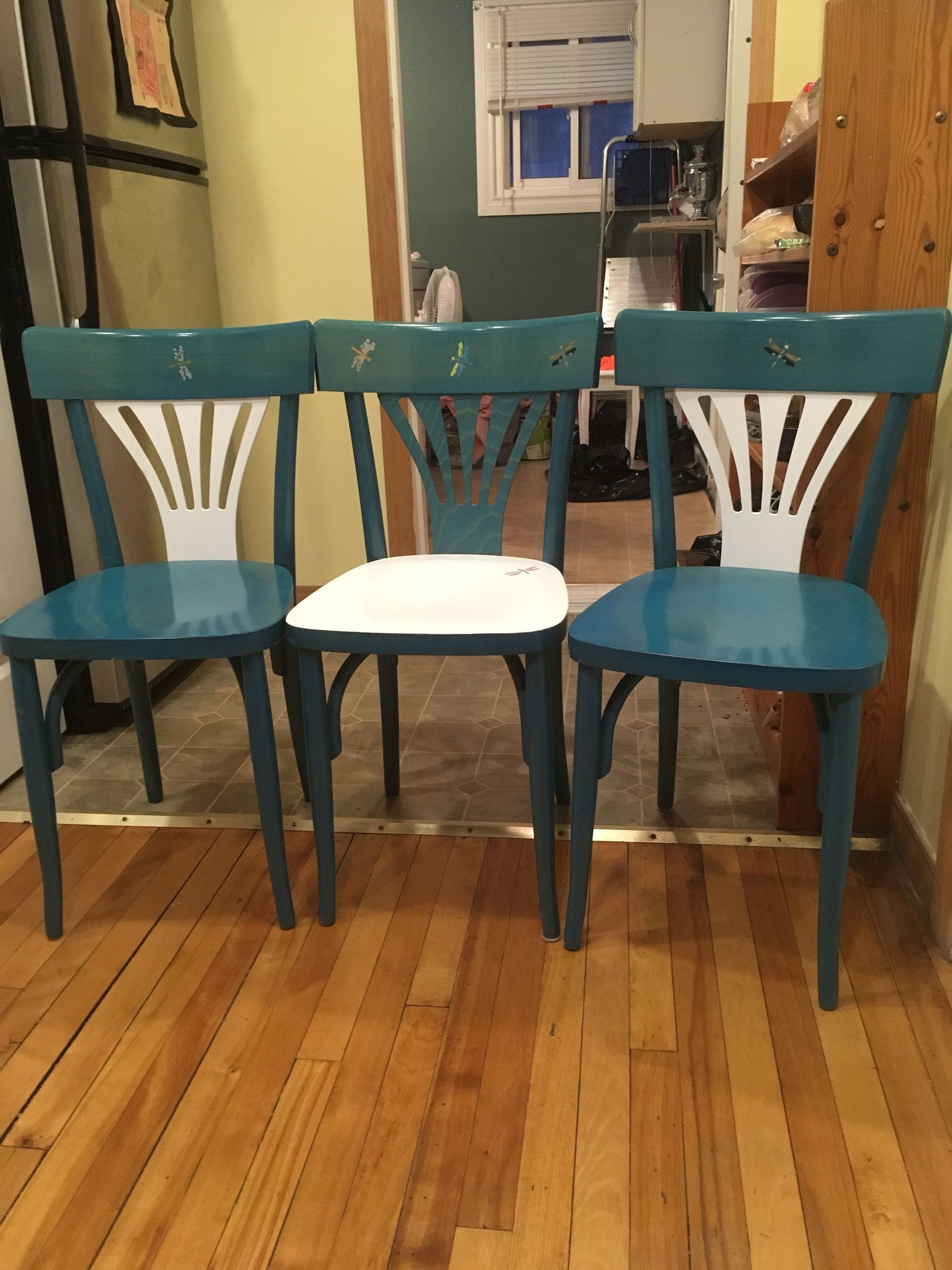 Dragon fly wood bistro chairs