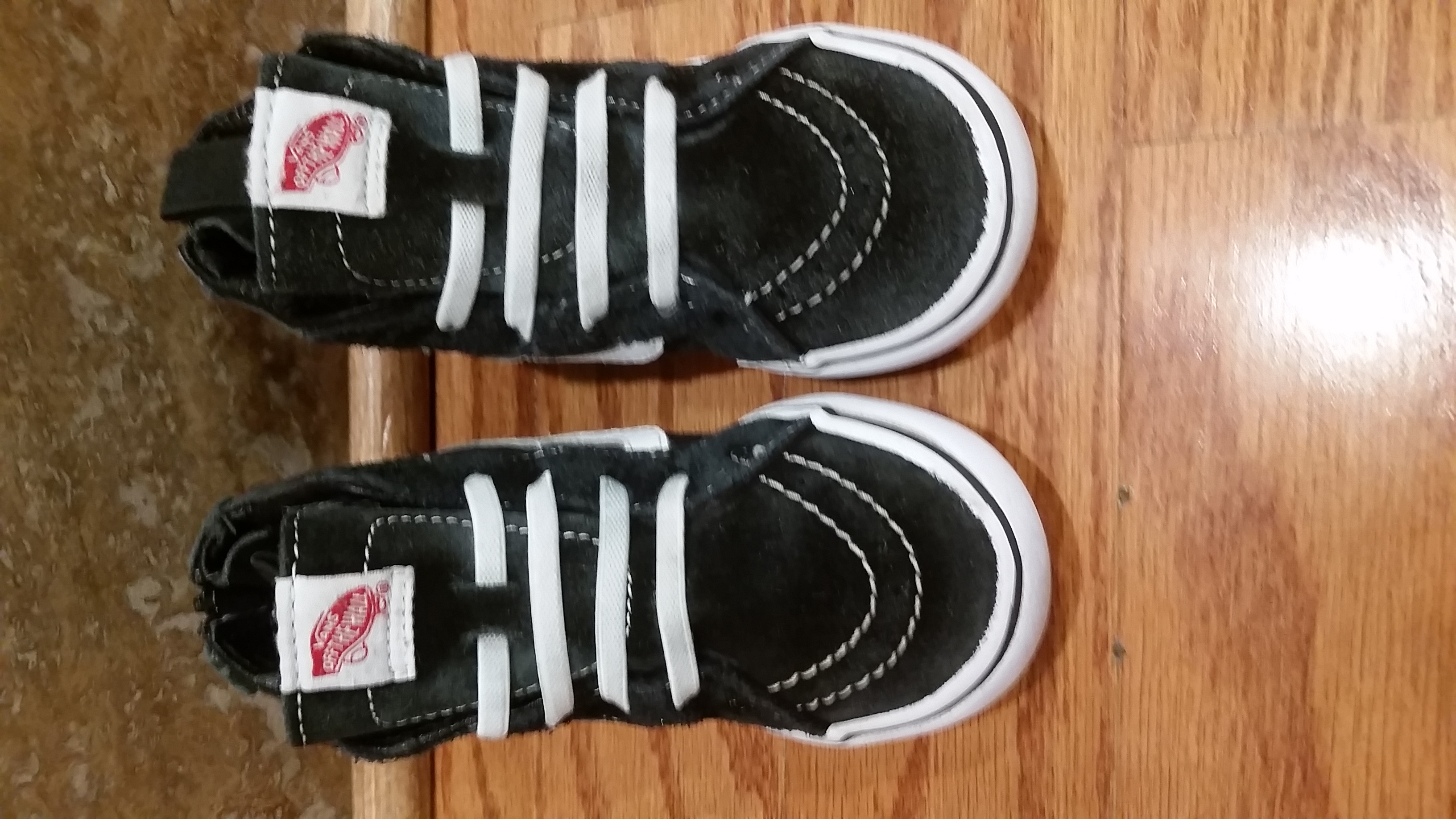 Toddler Boys size 9, VANS Sk8-Hi suede sneakers in EUC, $ PRICE IS $7.00 no more and no less. $7.00 firm.