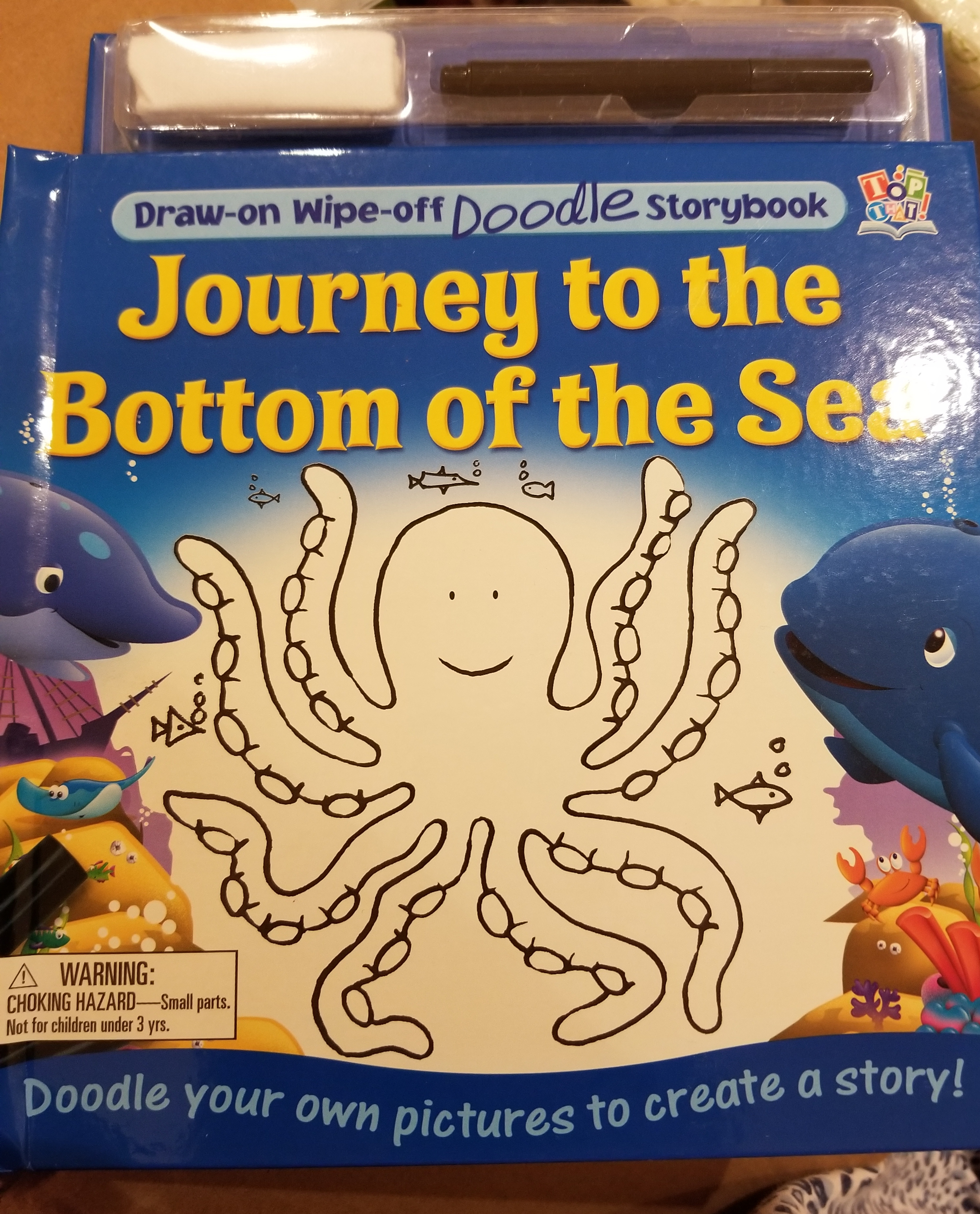 Journey to the bottom of the sea draw on wipe off storybook new