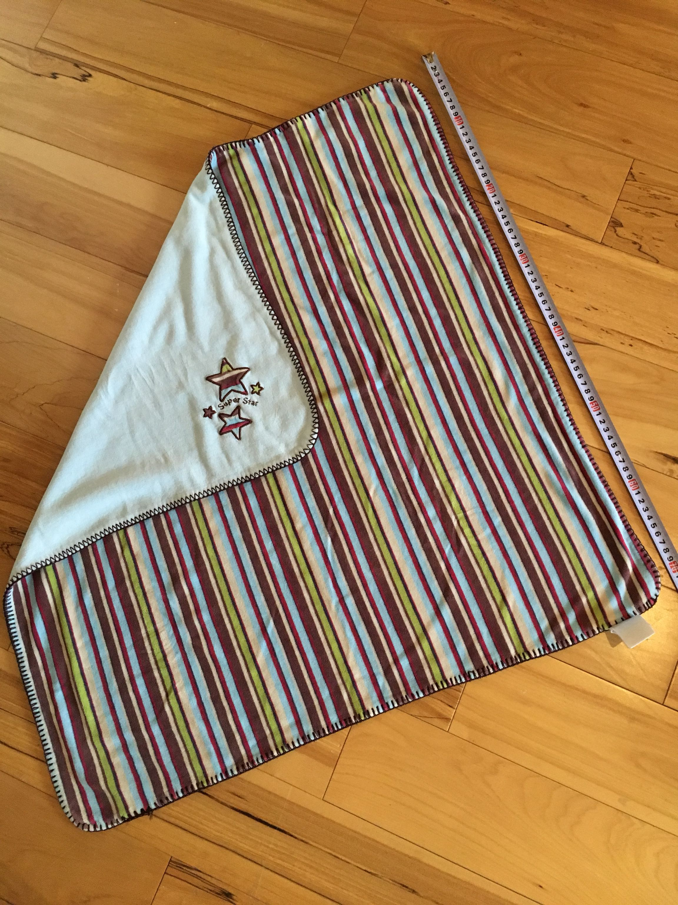 Think and minky baby blanket - very nice quality and the best for swaddling