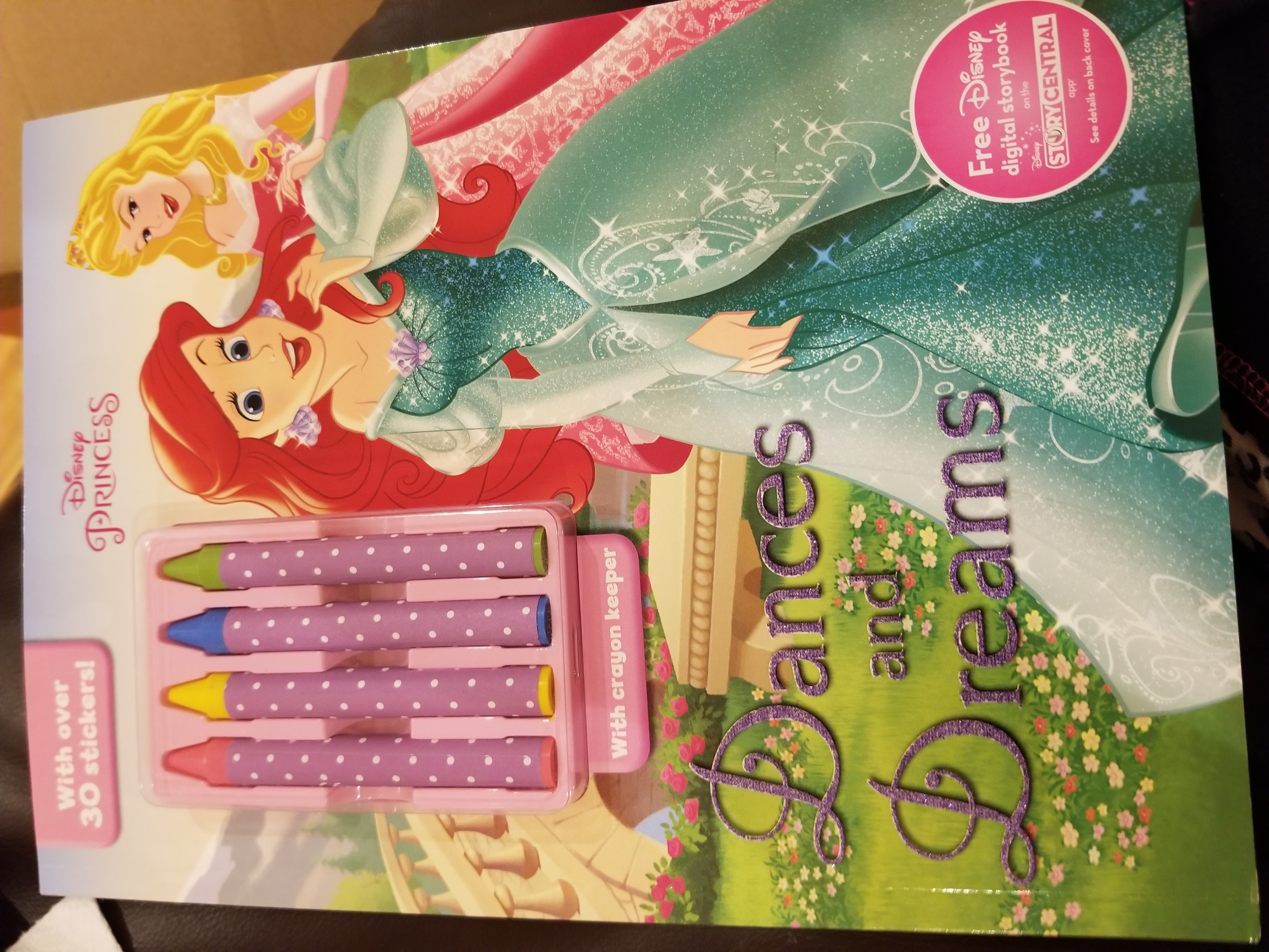 Princess color activity book with crayon keeper