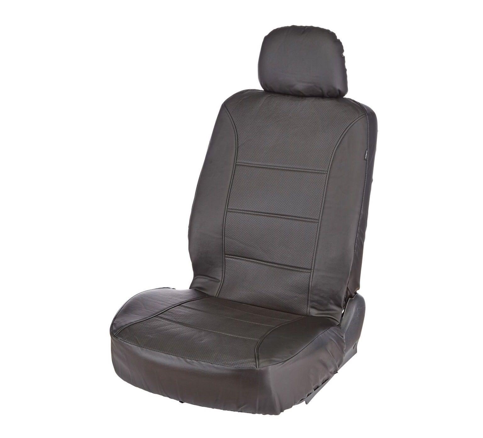 2 black universal seat covers