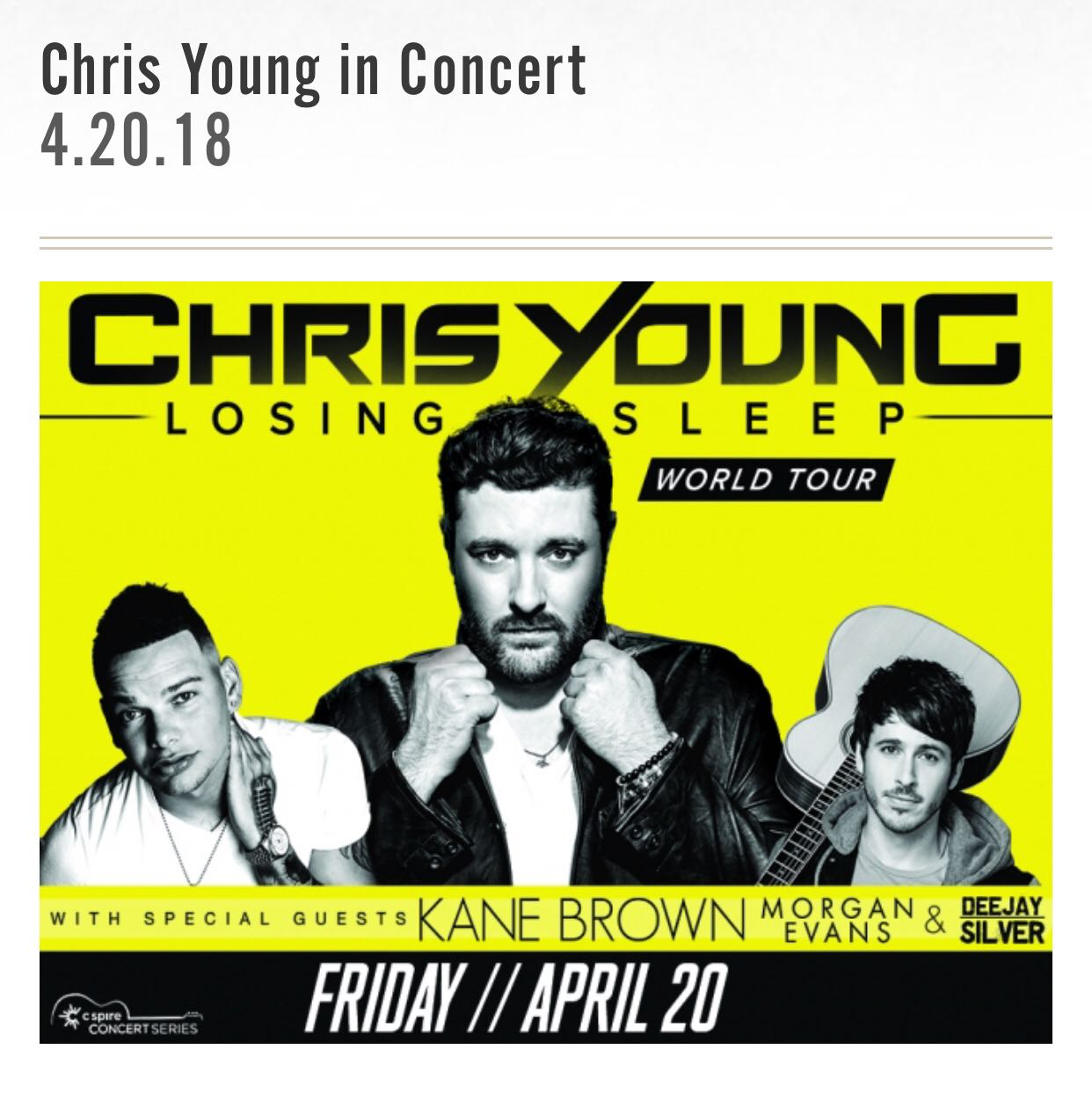 Chris Young Ticket