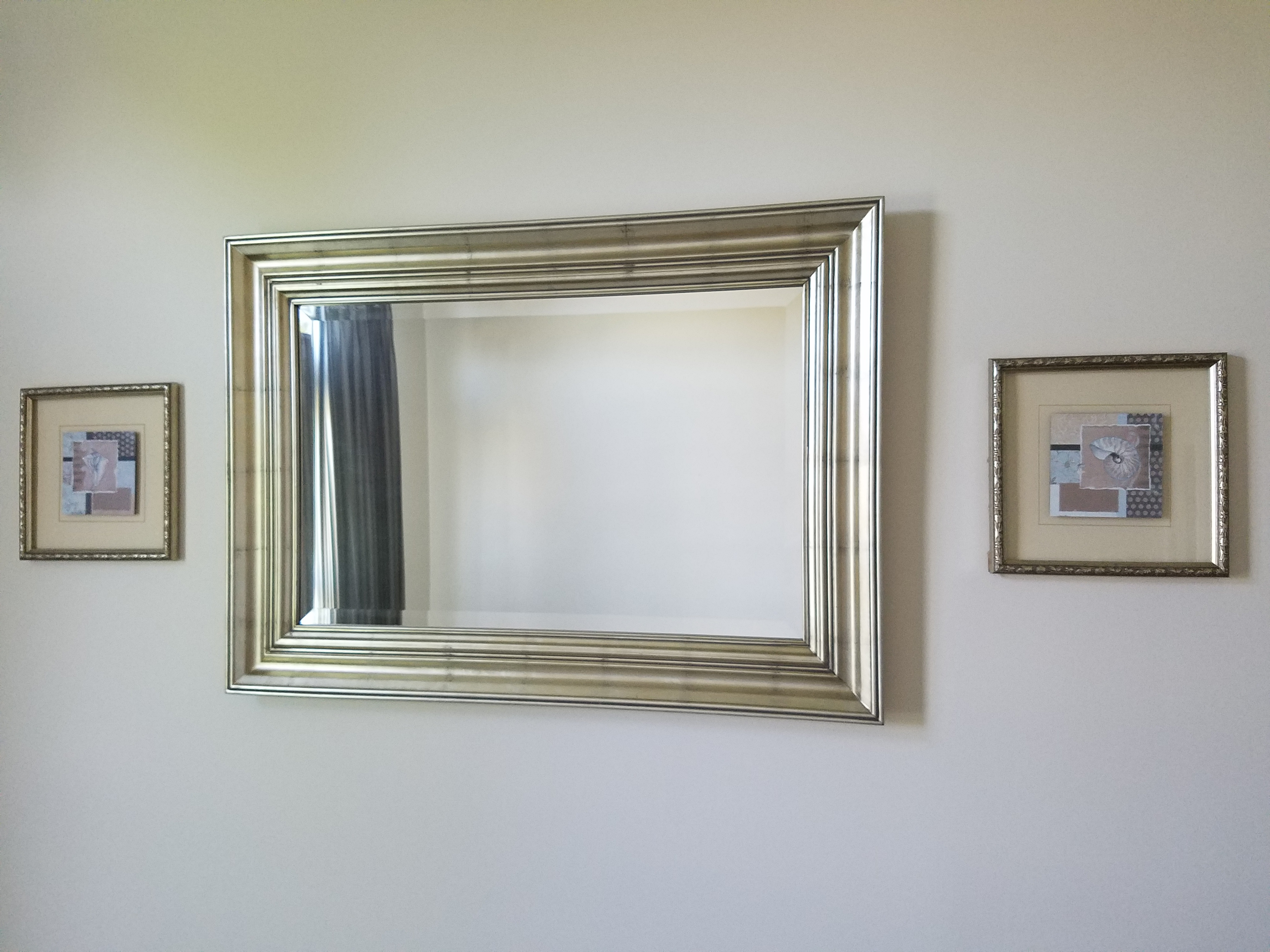 Mirror and 2 paintings
