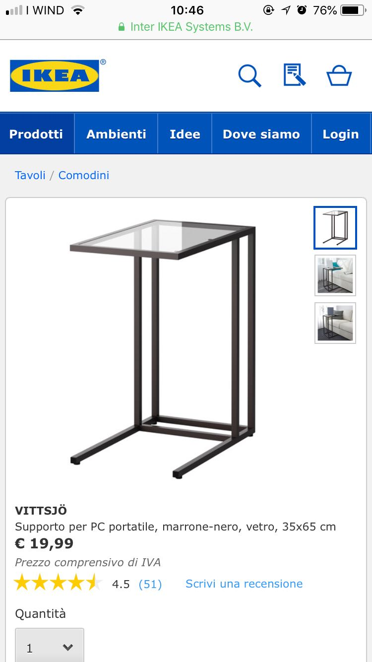 PC/side table