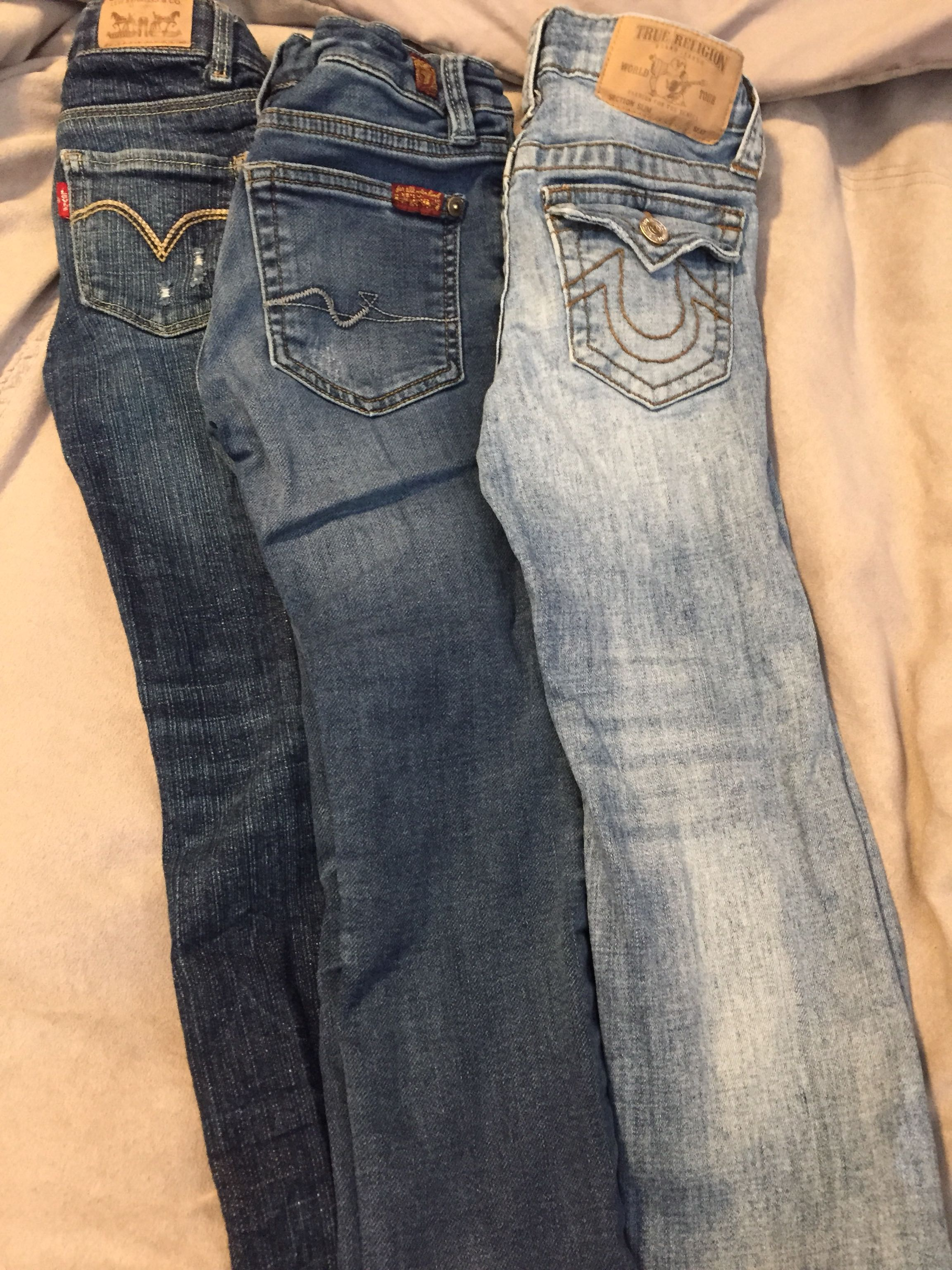 Boys True religion, 7 for all man kind, Levi's jeans