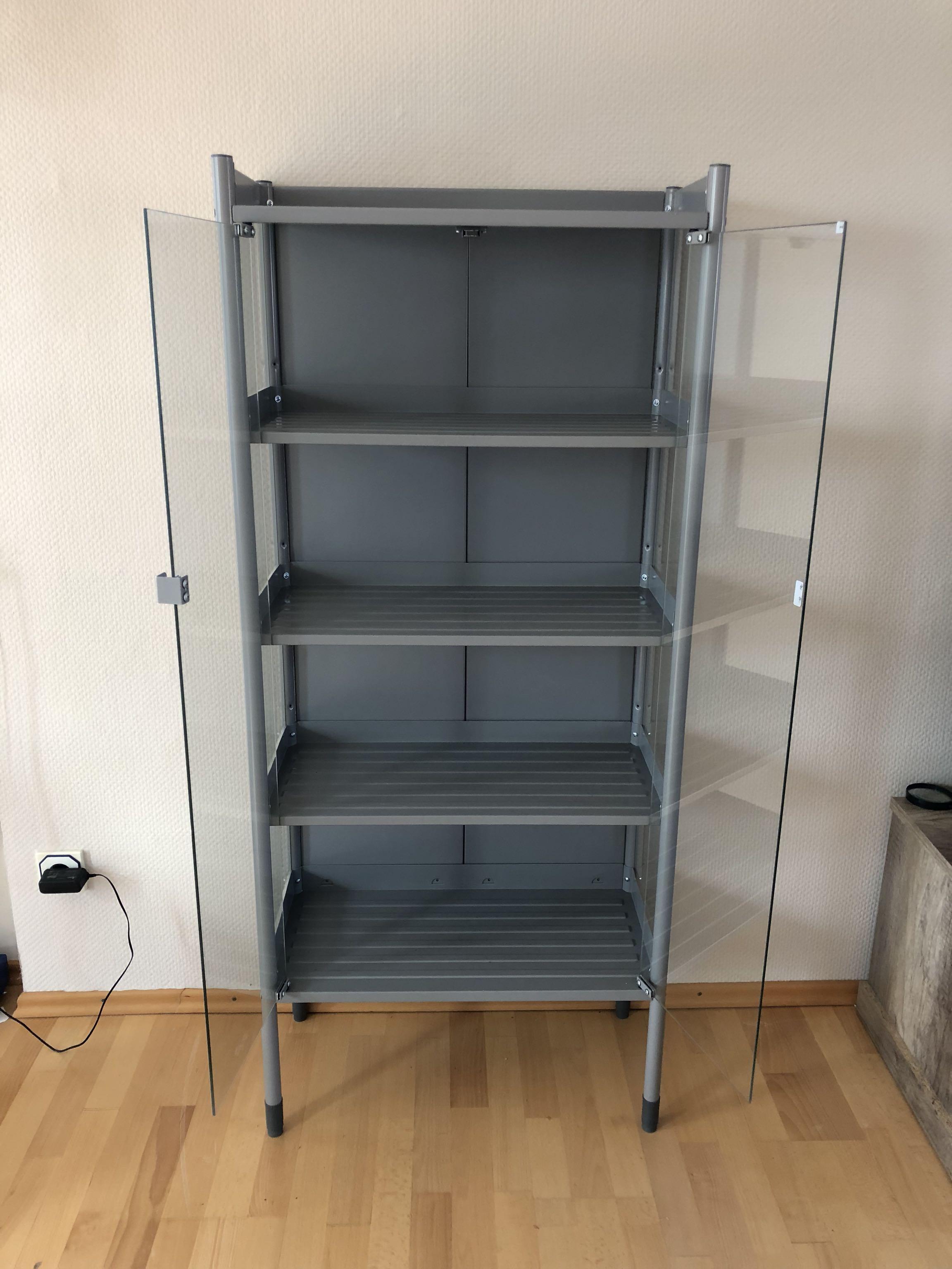 IKEA glass cupboard shelves