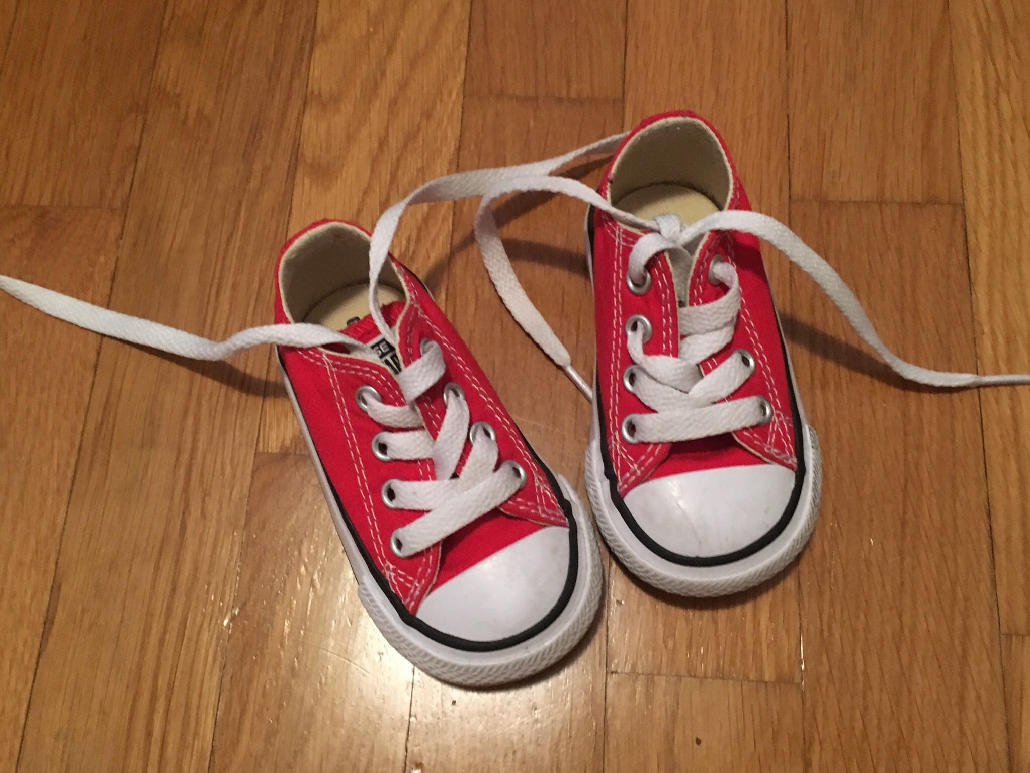 Red Toddler Converse, Size 4