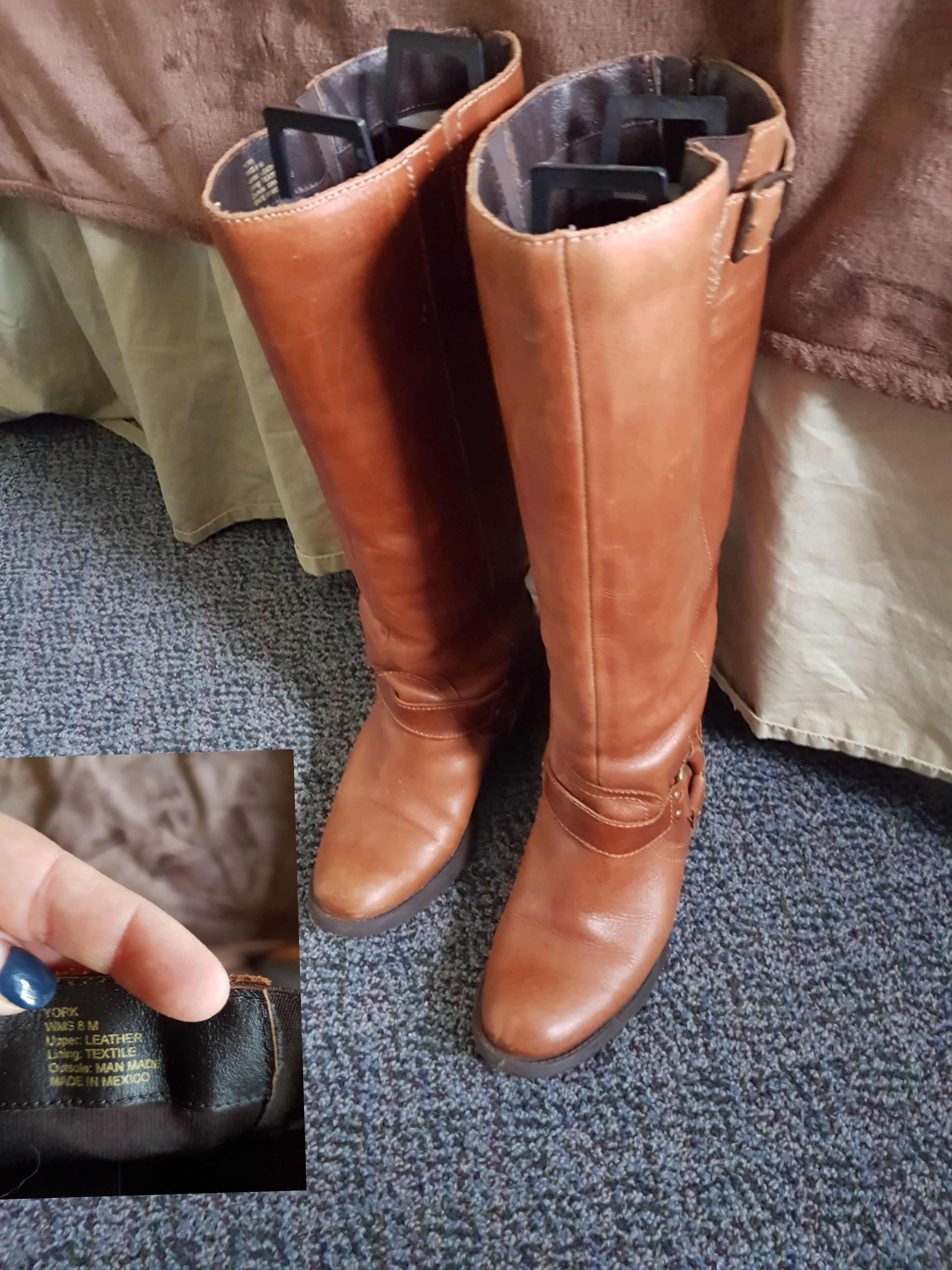 Leather boots 8m