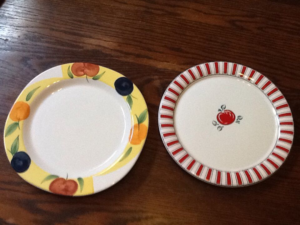 Two serving platters