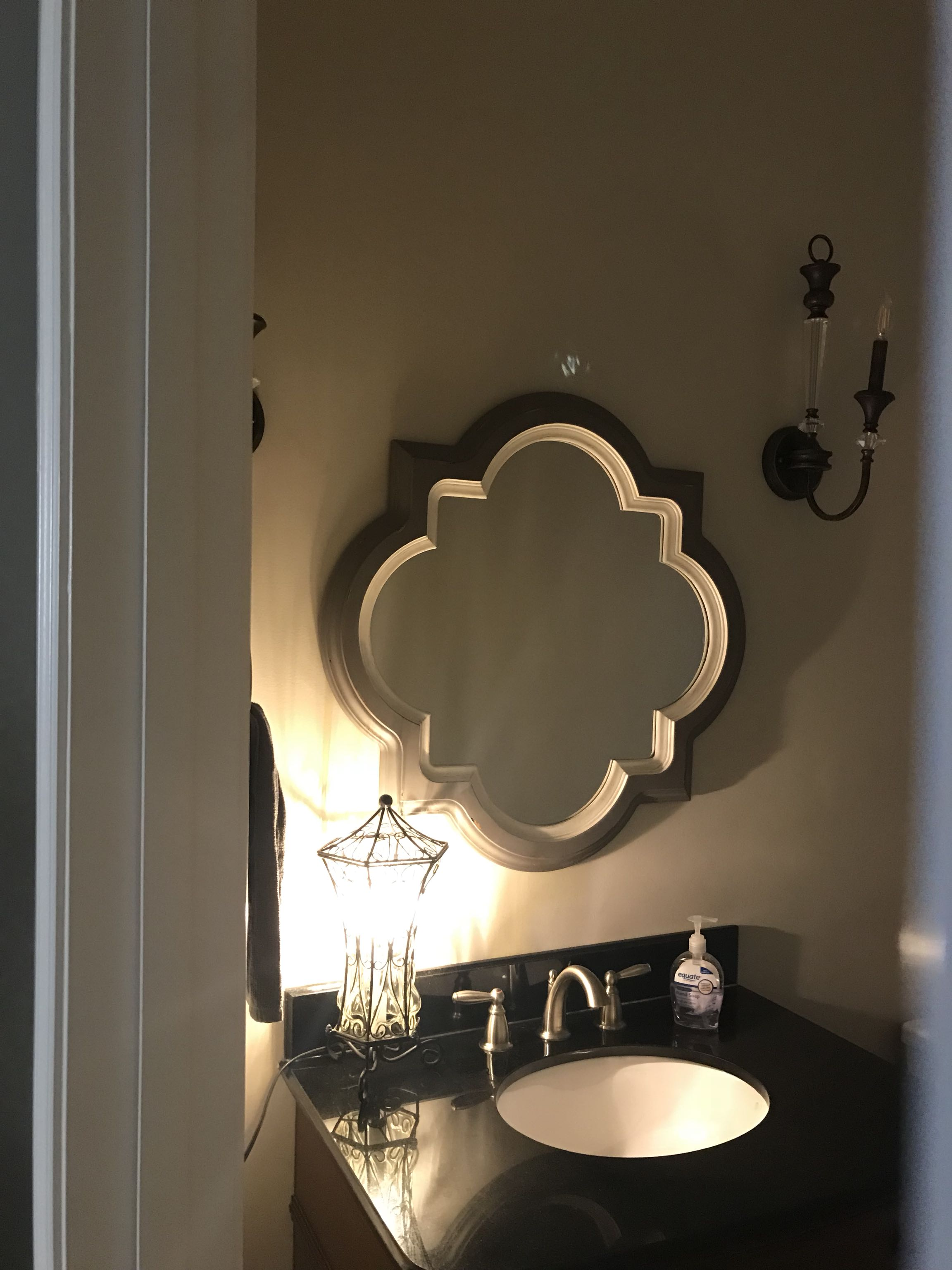 Grey and white mirror