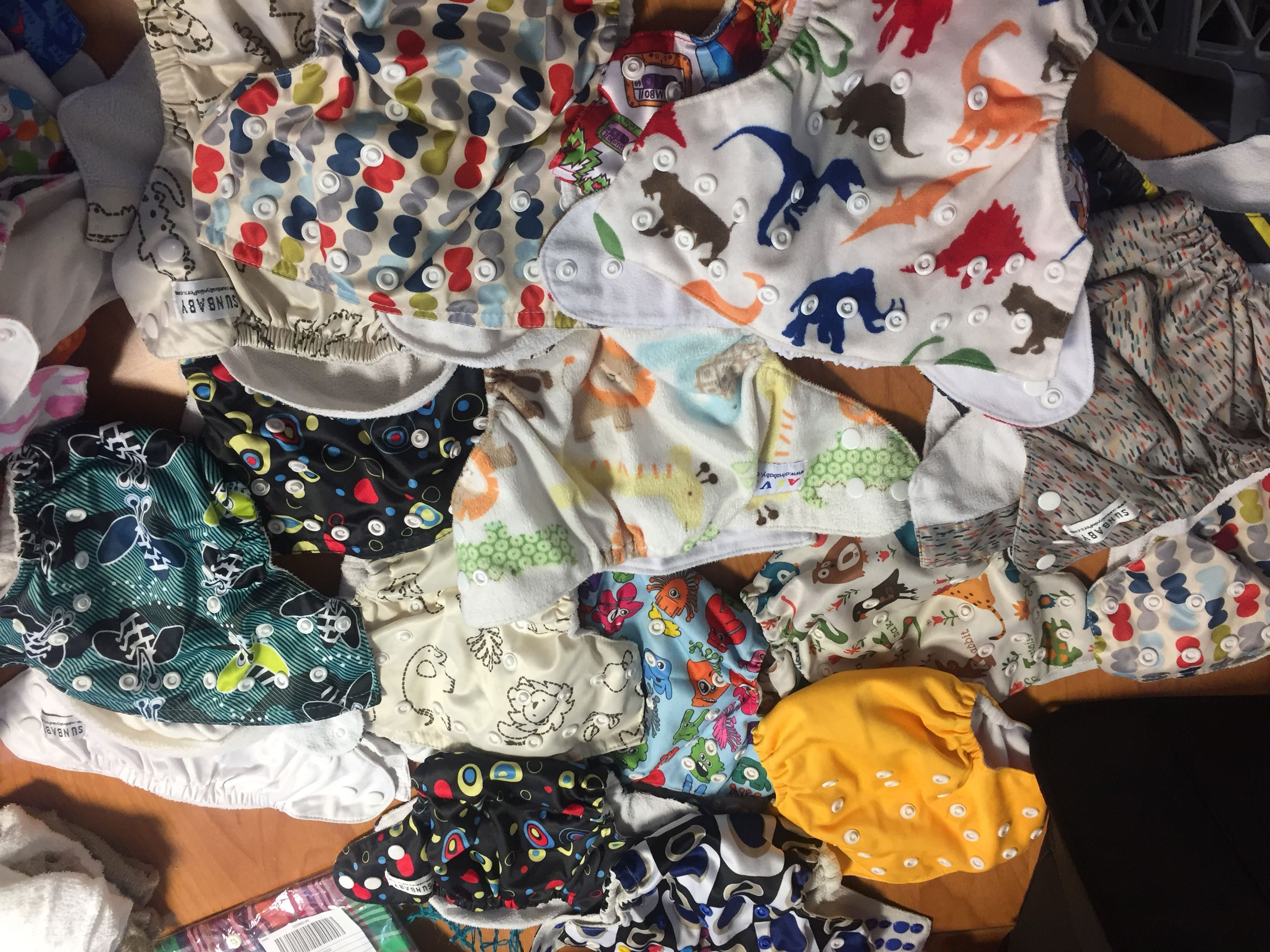 Cloth pocket diapers + inserts