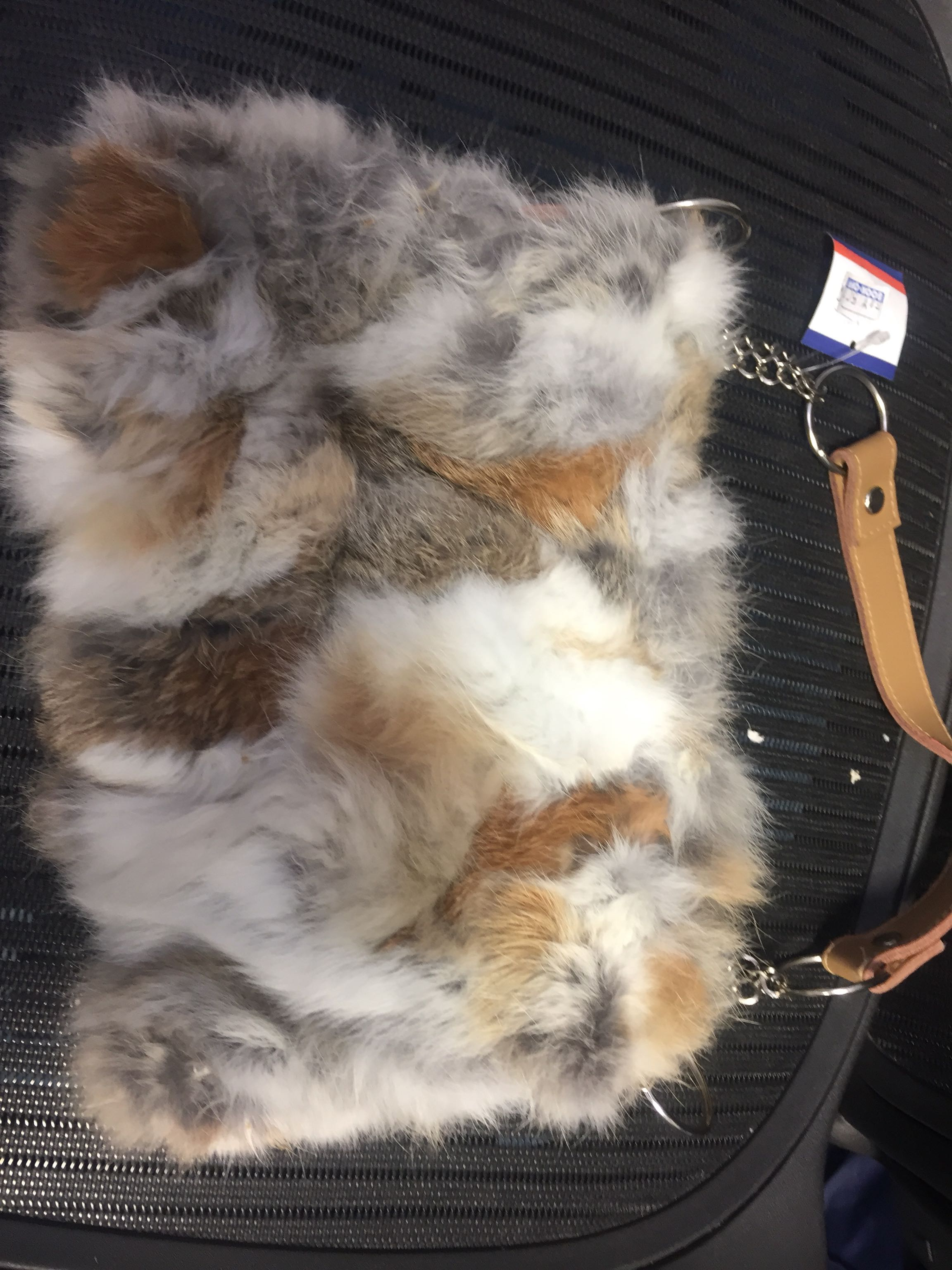 Small rabbit fur purse