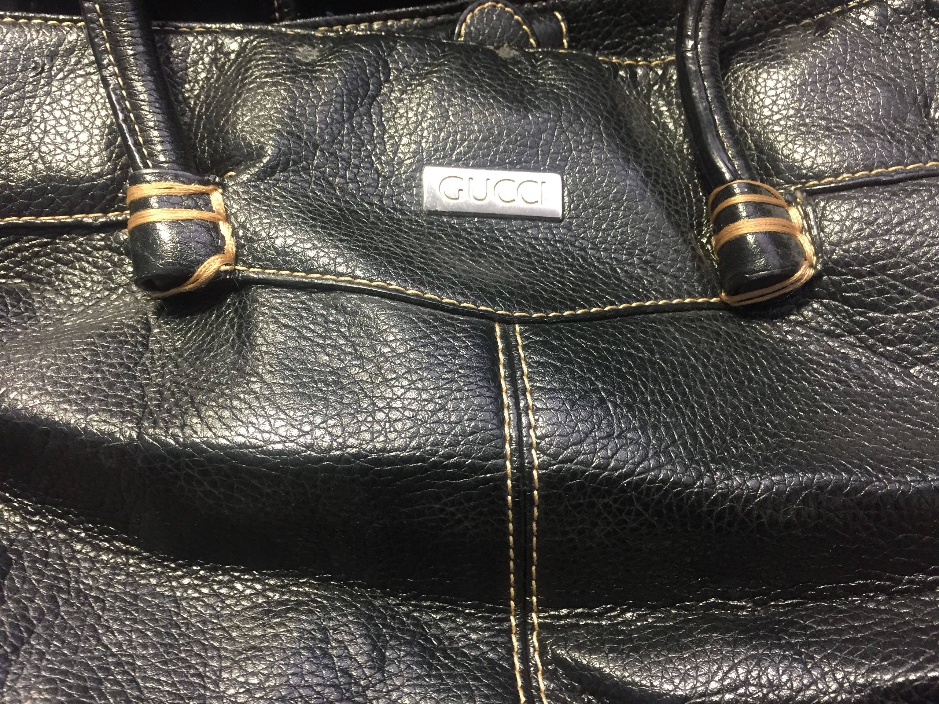 Black Gucci purse