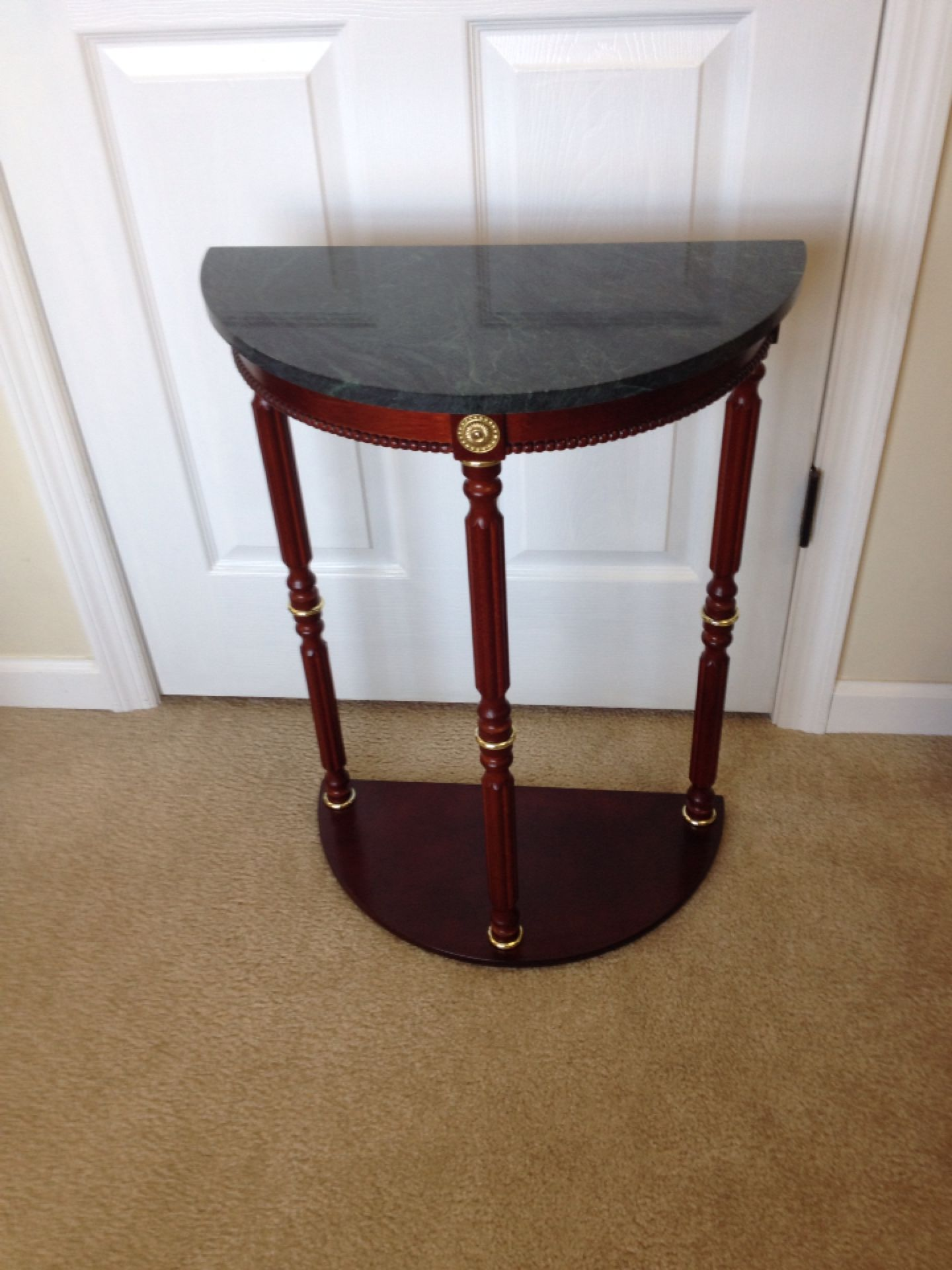 Attractive Find more Half Moon Plant Stand Or Accent Table With Green Marble  QS98