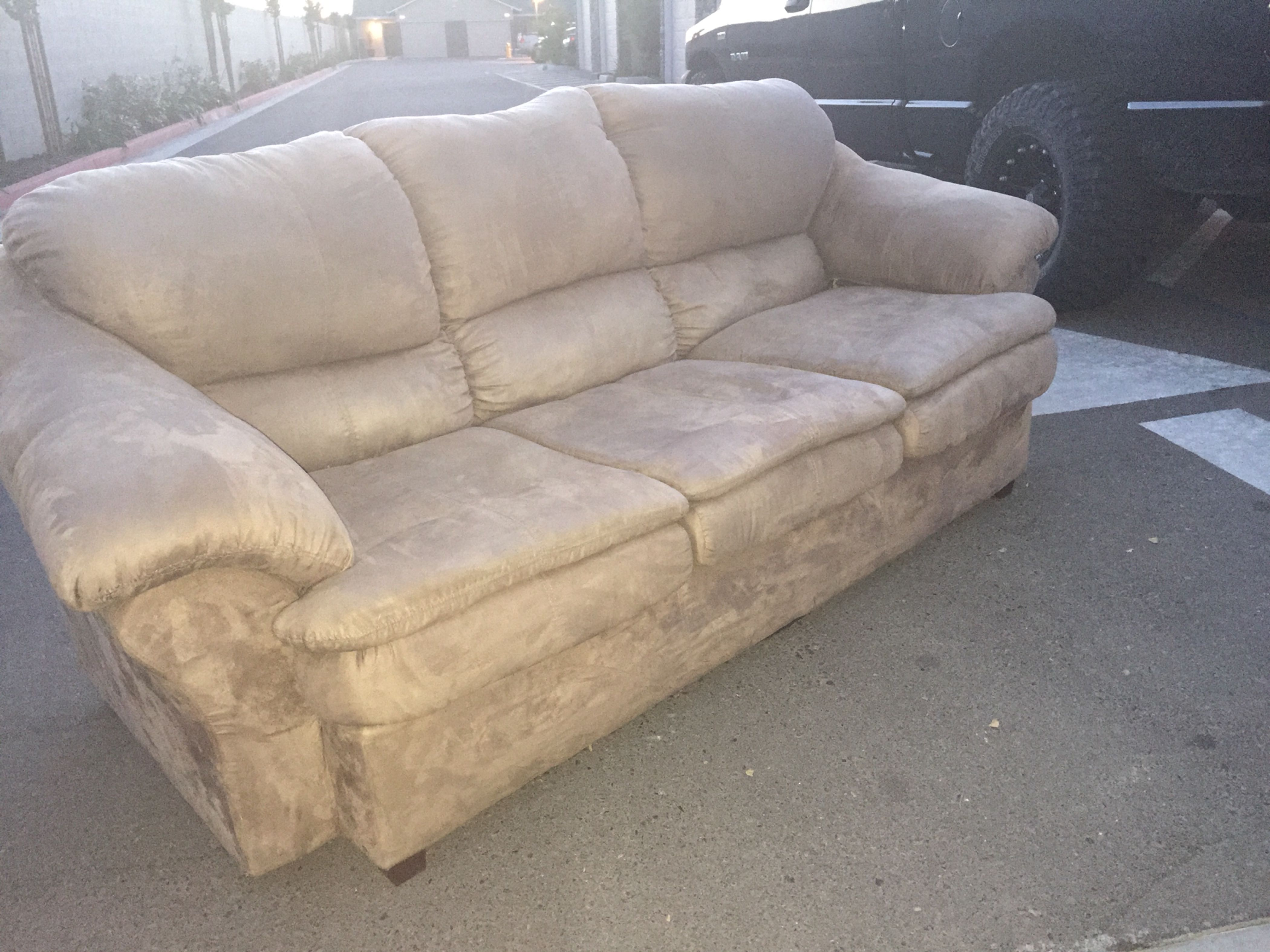 Beautiful Best Tan Suede Couch for sale in Visalia, California for 2018 LT66