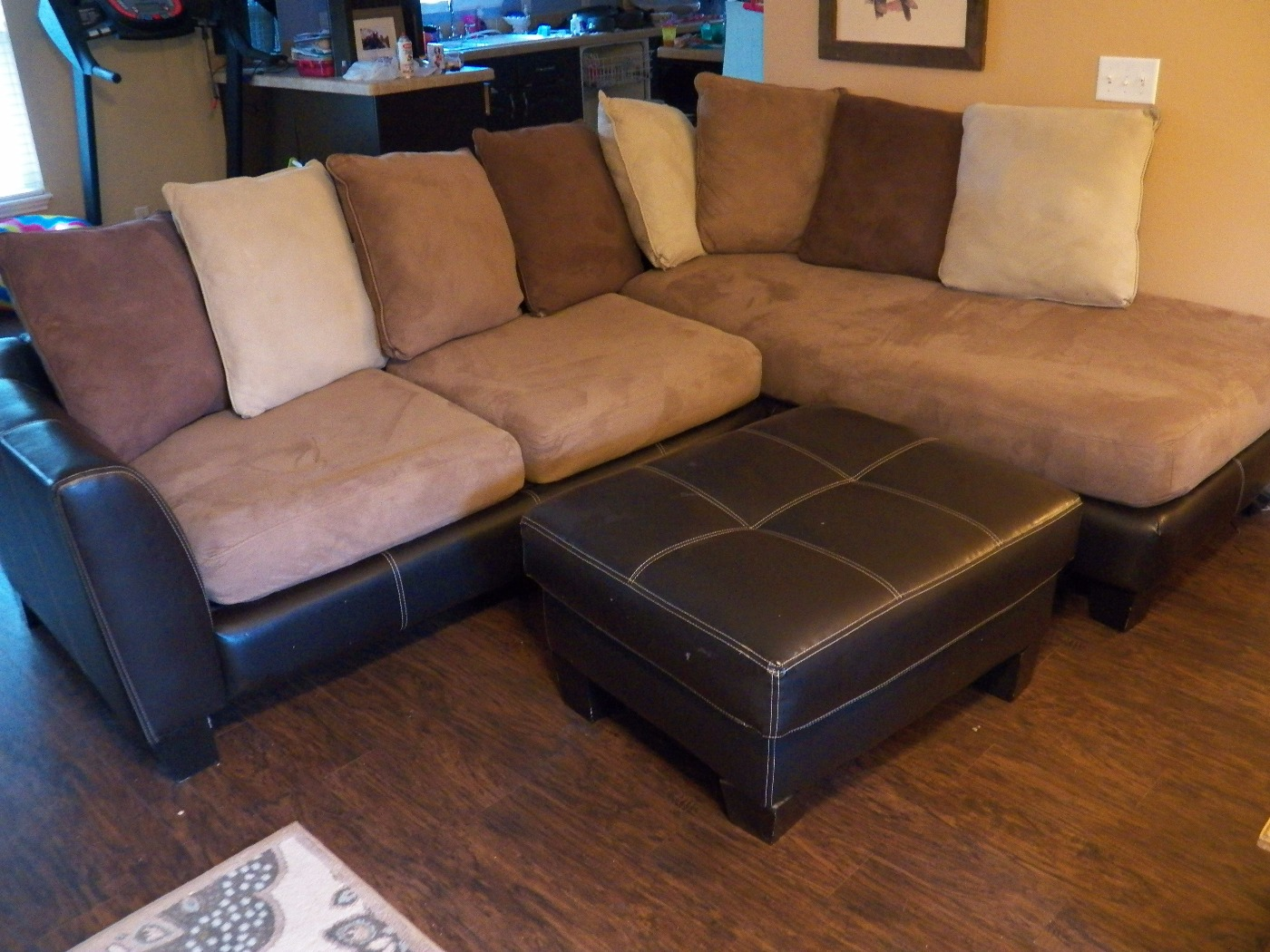 Well-liked Find more Micro Suede L Shaped Couch And Ottoman In Great  JC95