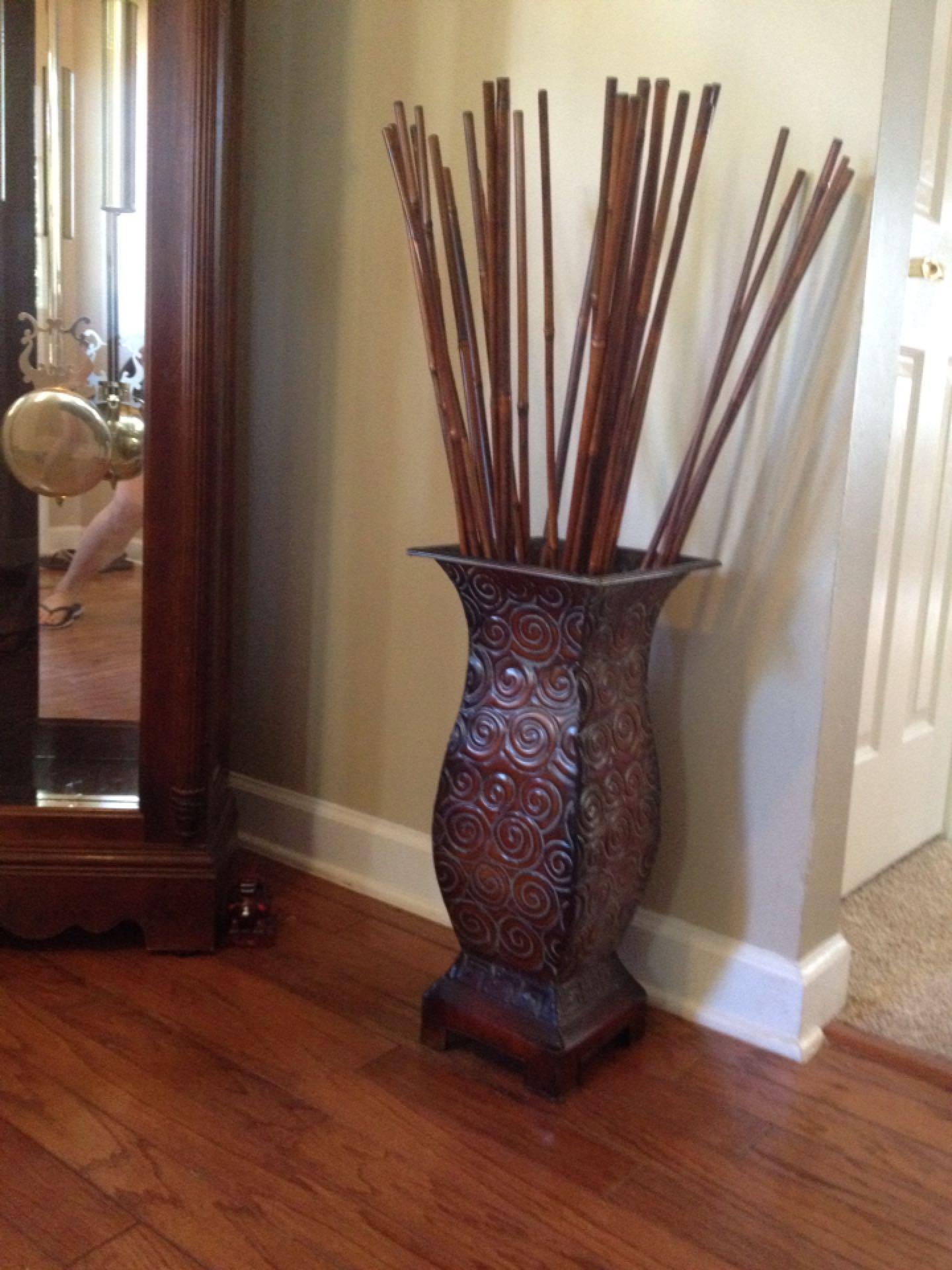 Relatively Find more Metal Decorative Vase / Stand With Bamboo Sticks for  QS41