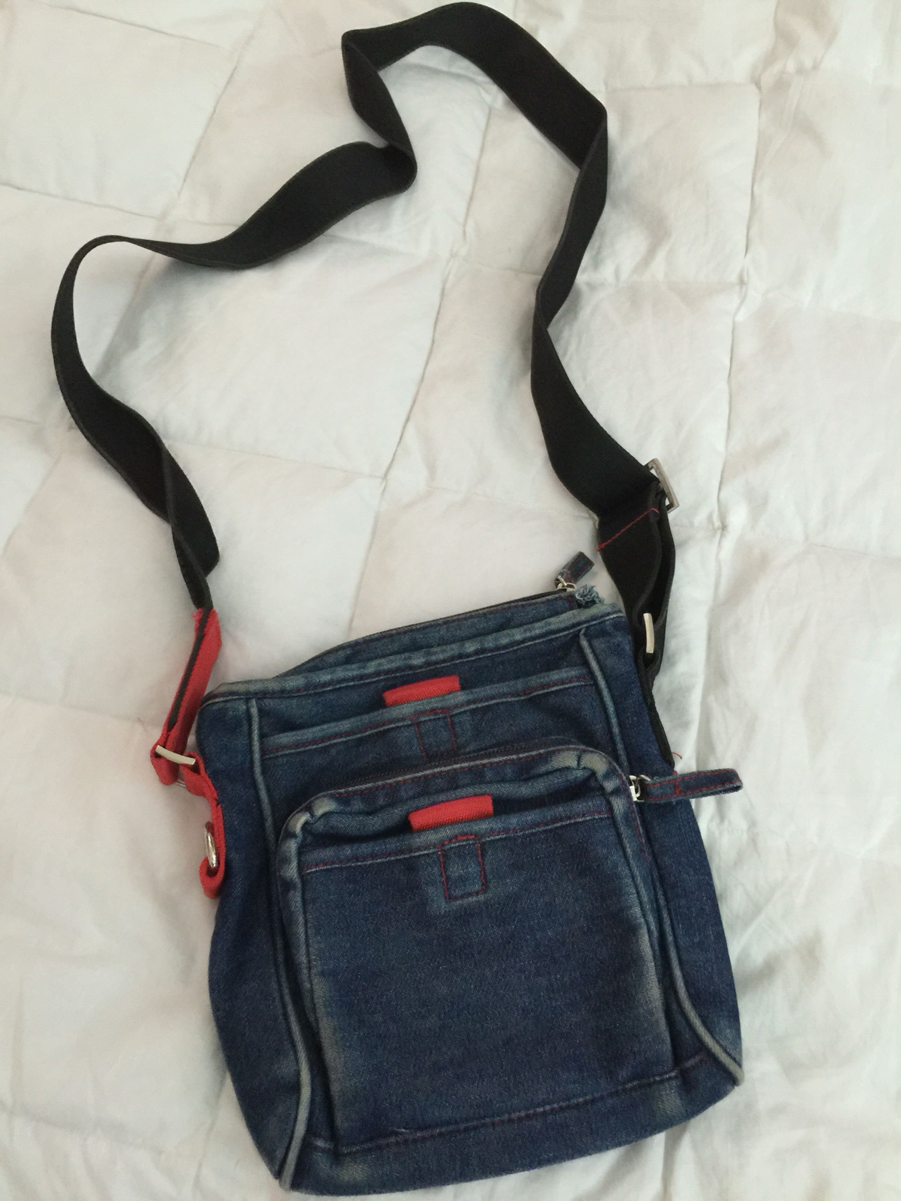 Macys Charter Club Crossover Bag purse Jean Material - Rarely used - Just sitting collecting dust