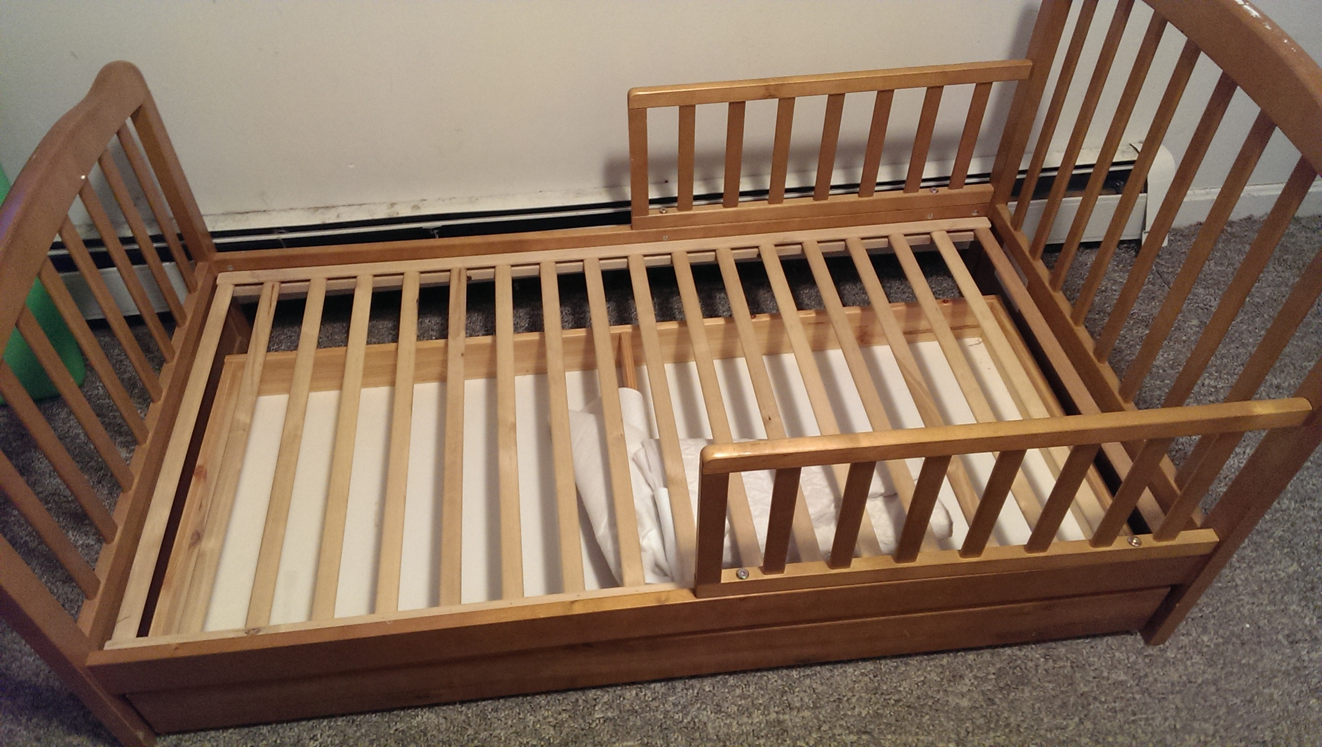Unique Find more Wooden Toddler Bed With Half A Bed Rail On Both Sides  NK59