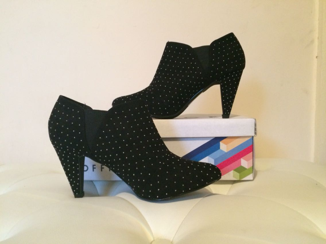 Office Black Studded Boots (Size 5)