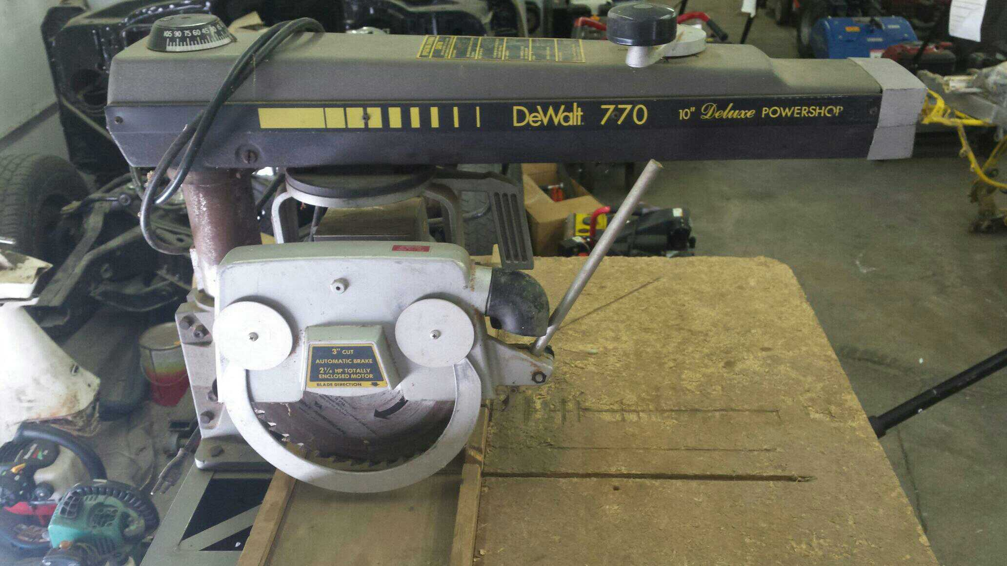 Hedendaags Find more Reduced! Need It Gone! Dewalt 770 Radial Arm Saw for BZ-22