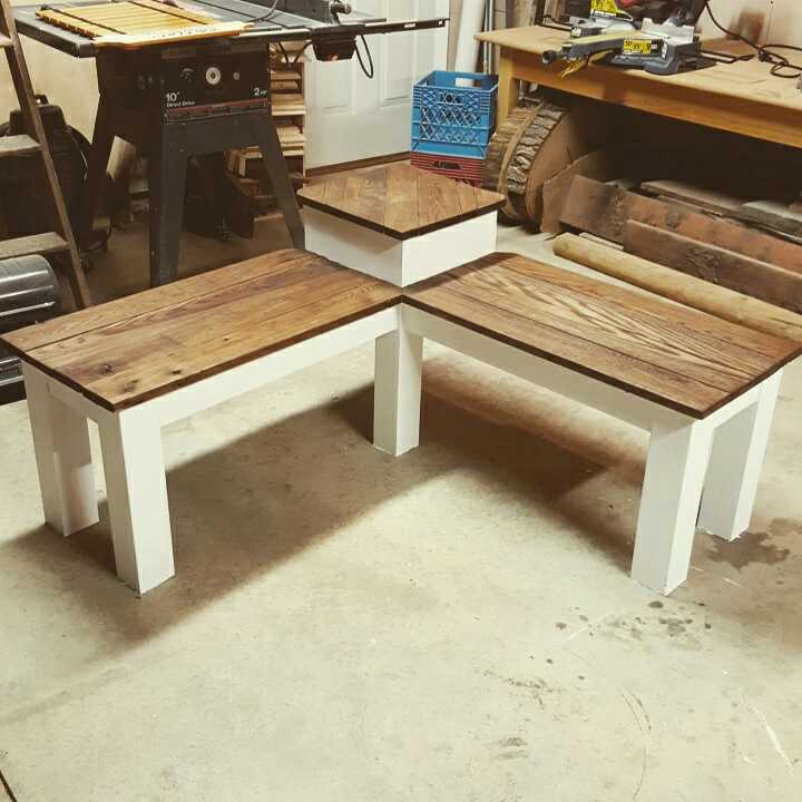 Unique Best Custom Made Indoor/outdoor Wood Corner Bench. Hand Built  RG36