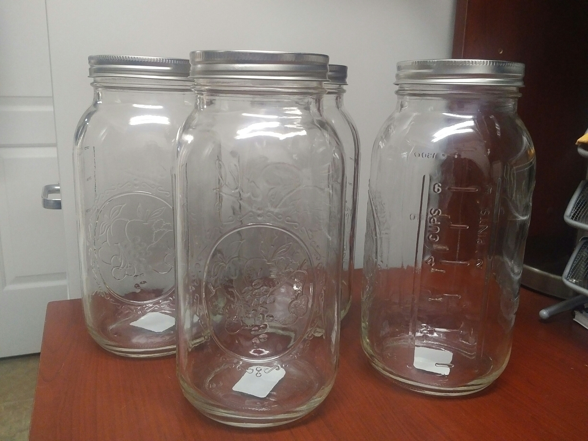 Fresh Find more 4 Extra Large Mason Glass Jars - 64 Oz for sale at up to  KC08