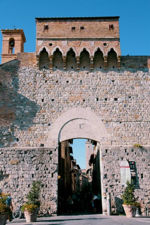 grand medieval village gate