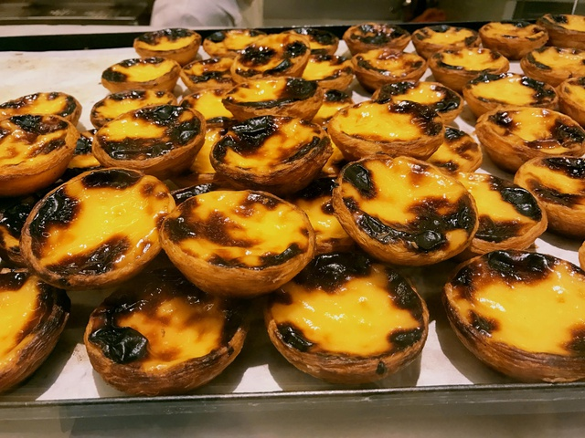 the famous Portuguese egg tarts