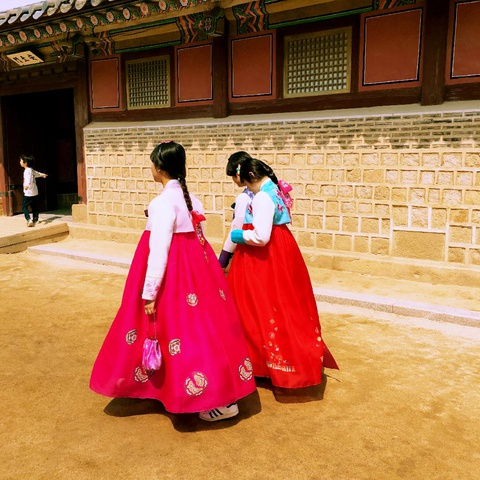 love the colorful traditional Korean costumes
