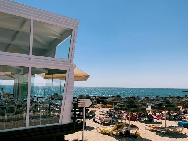 a cute restaurant on beach