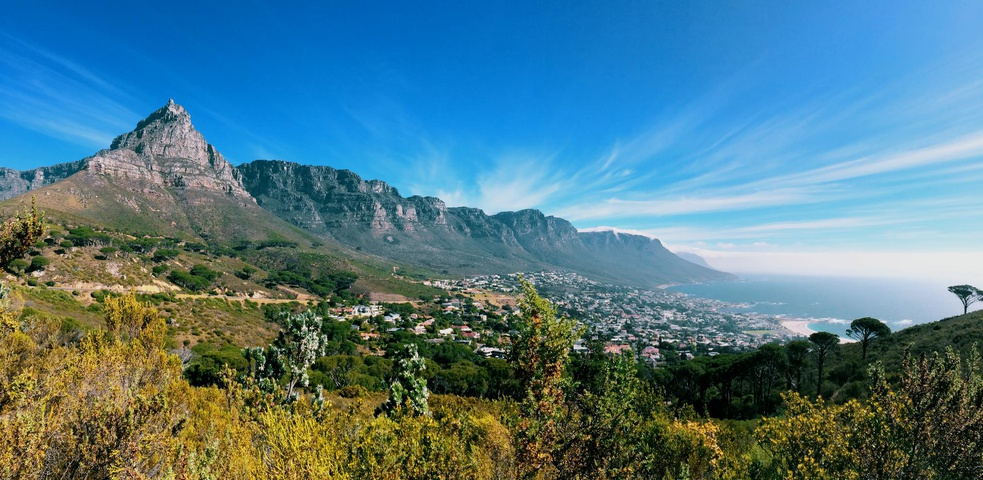 a panoramic view of the famous Table Mountain