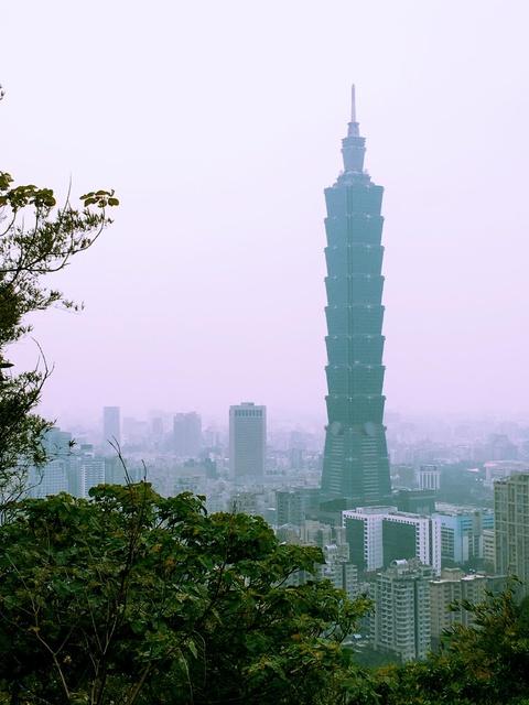 a nice view of Taipei 101
