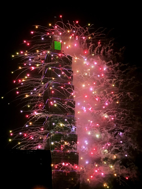 spectacular New Year's Eve fireworks