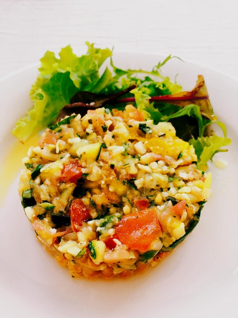 refreshing vegetable tartar
