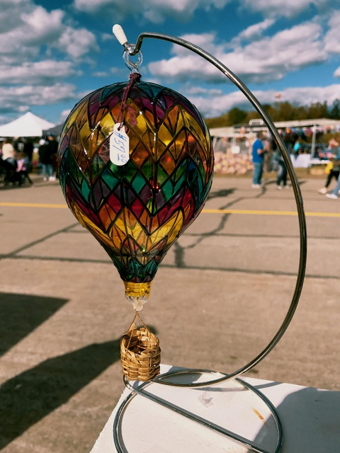 a crafts fair at the hot balloon festival