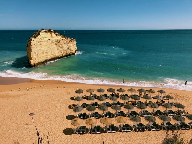secluded beach in front of Vilalara Thalassa Resort