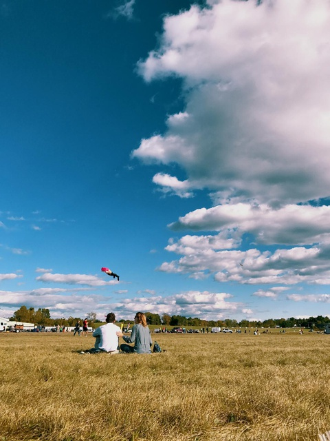 perfect spot for flying kites too