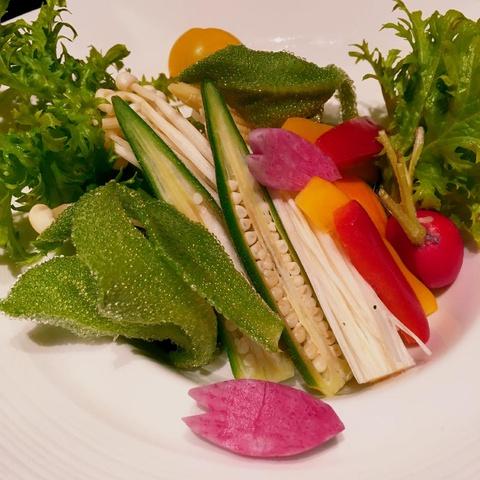 an assortment of fresh vegetables