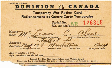 Rations and recipes blog wartime wednesdays elinor florence inside there were coupons issued for such things as sugar butter and meat fandeluxe Images