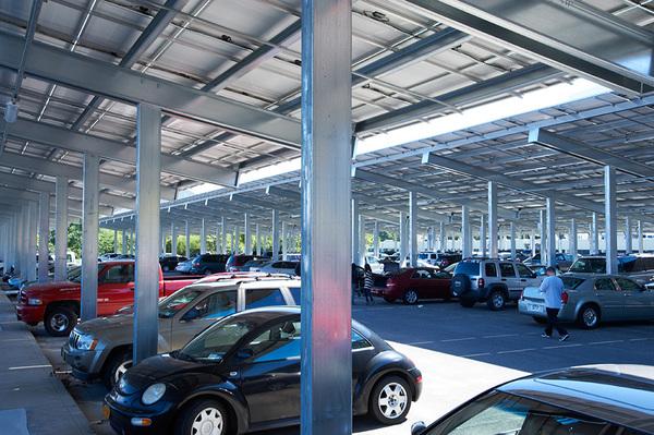 Commercial Solar Parking Lot