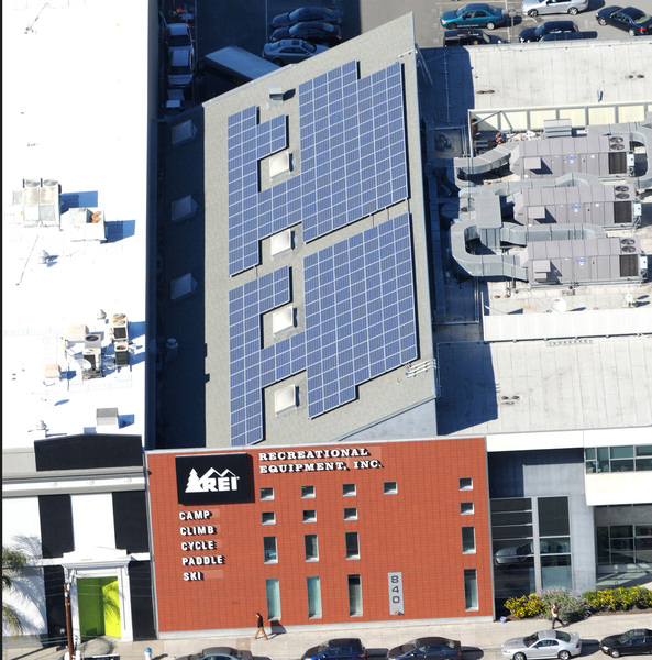 REI Commerical Solar Rooftop Installation